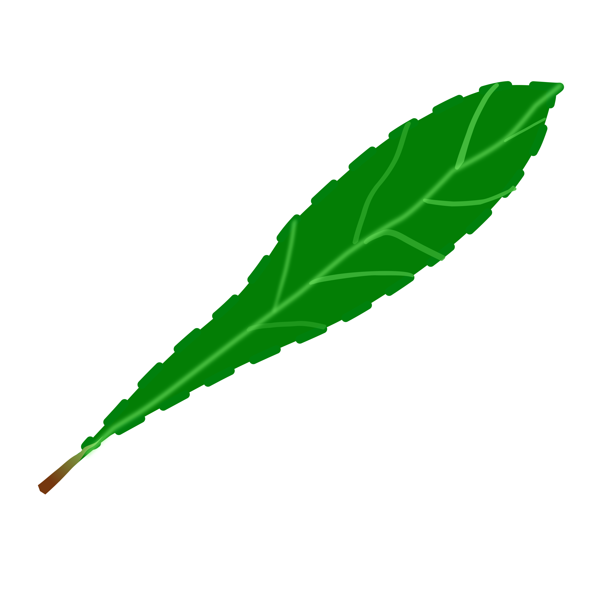 Clipart - Green leaf 2