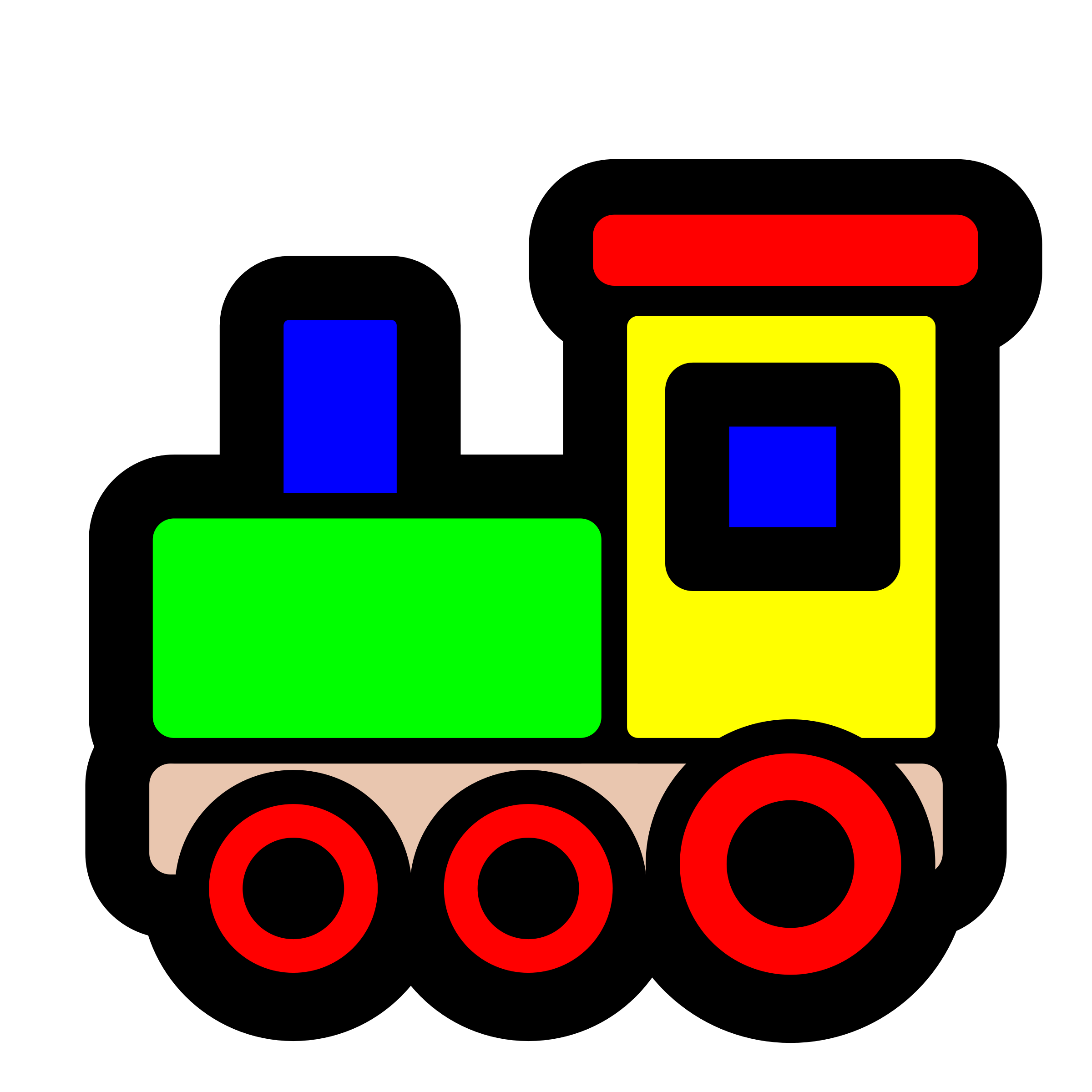 Toy train icon by pitr