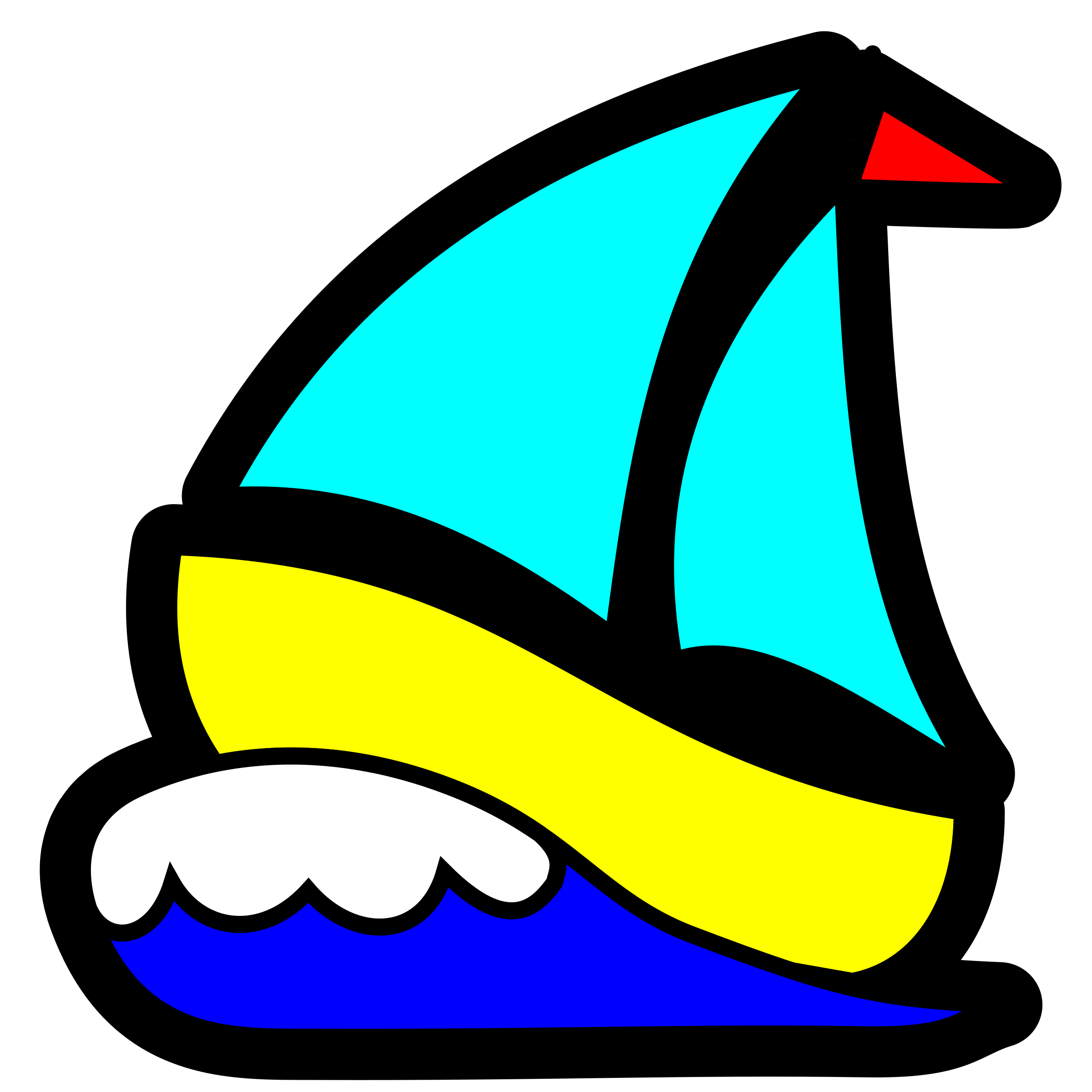 Clipart - Sailboat icon