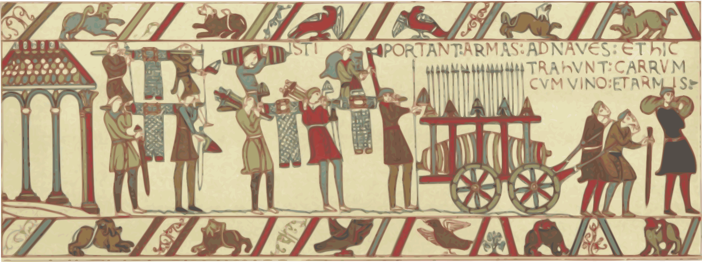 Part of Bayeux Tapestry 2 by Firkin