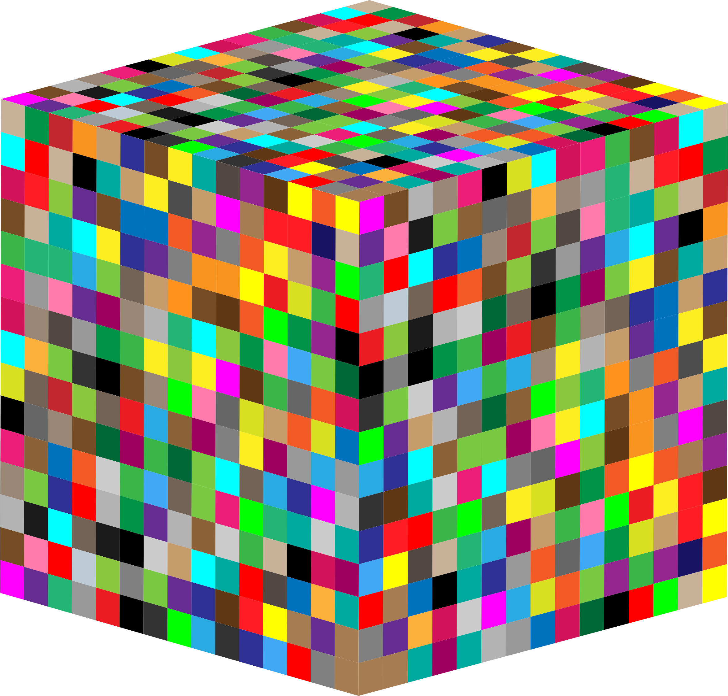 3D Multicolored Cube by GDJ