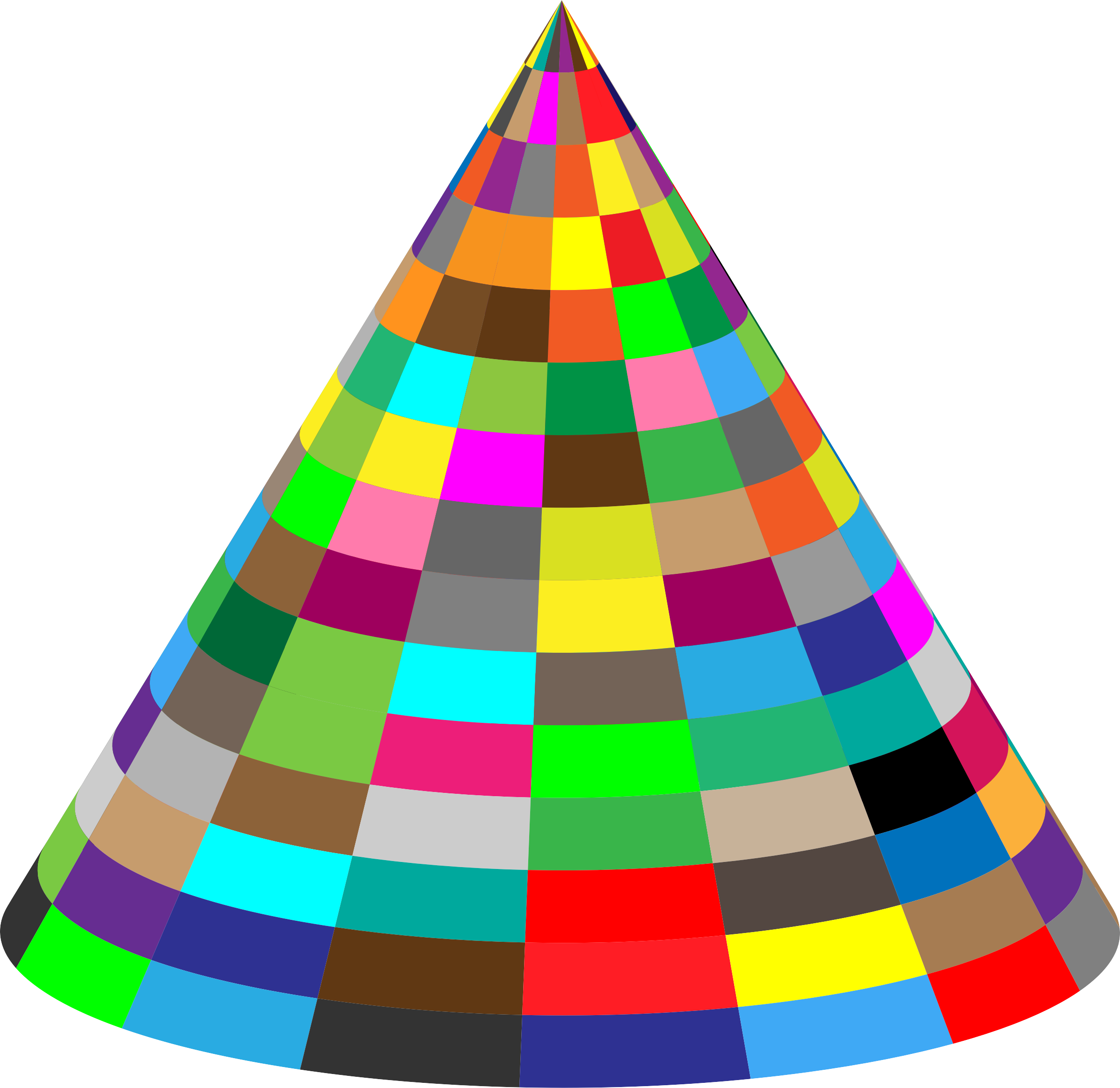 3D Multicolored Cone by GDJ