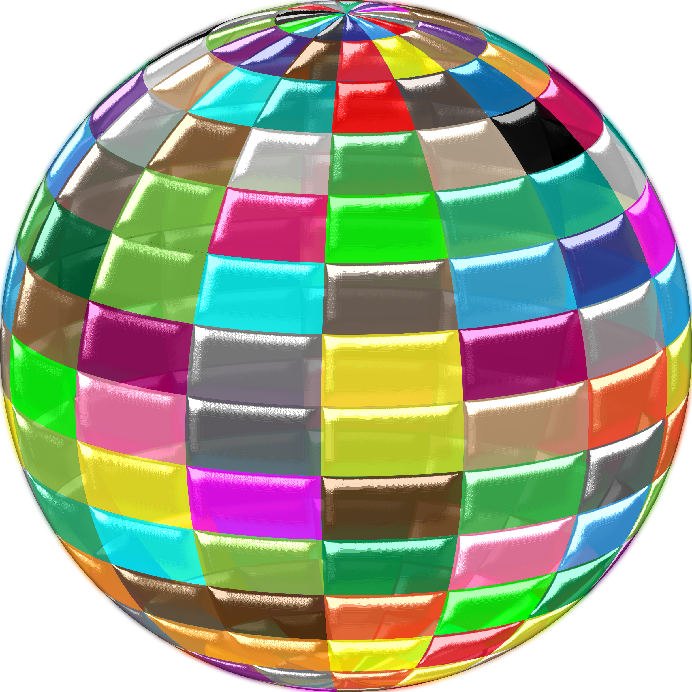 Geometric Beach Ball Transparent Shiny by GDJ