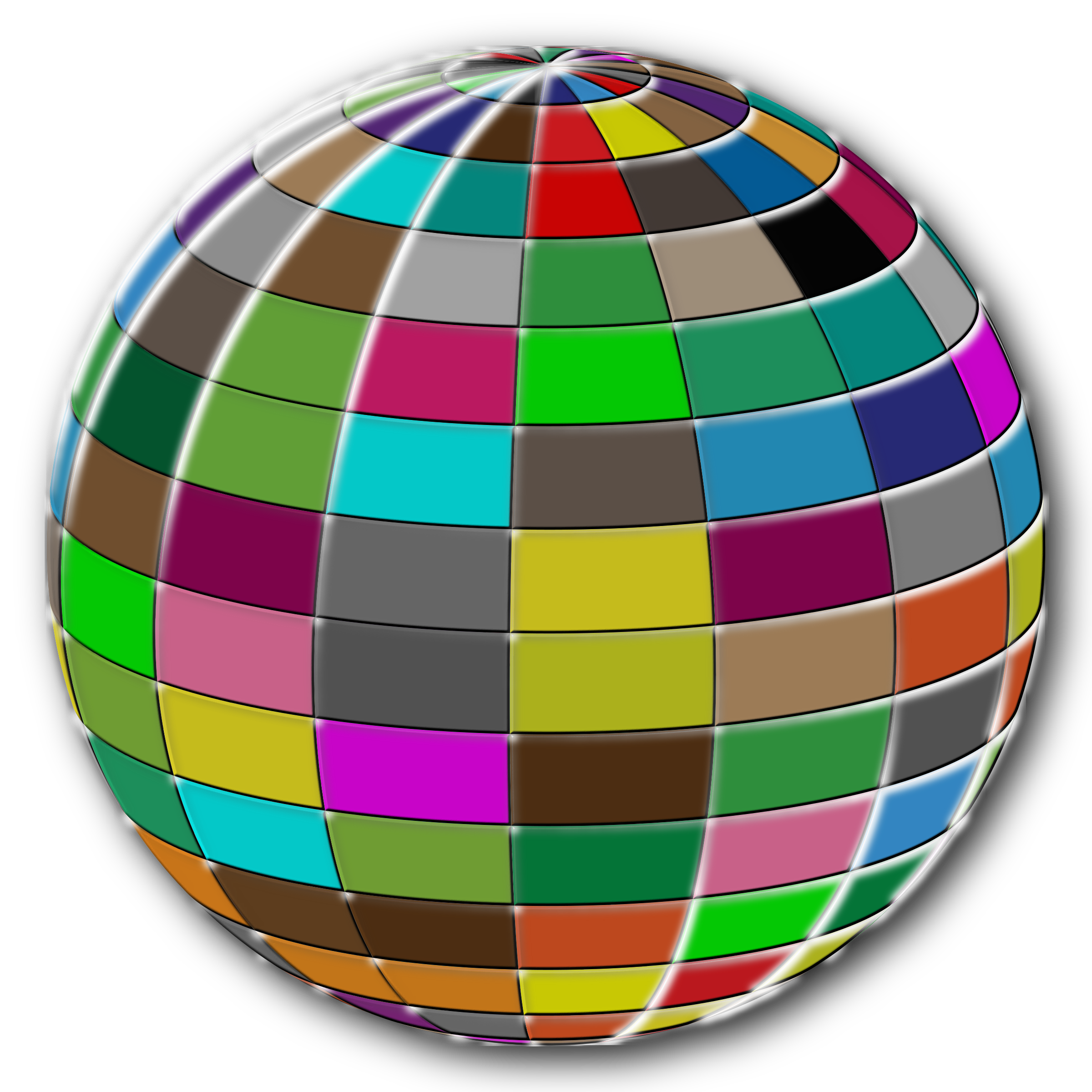 Geometric Beach Ball Bloom by GDJ