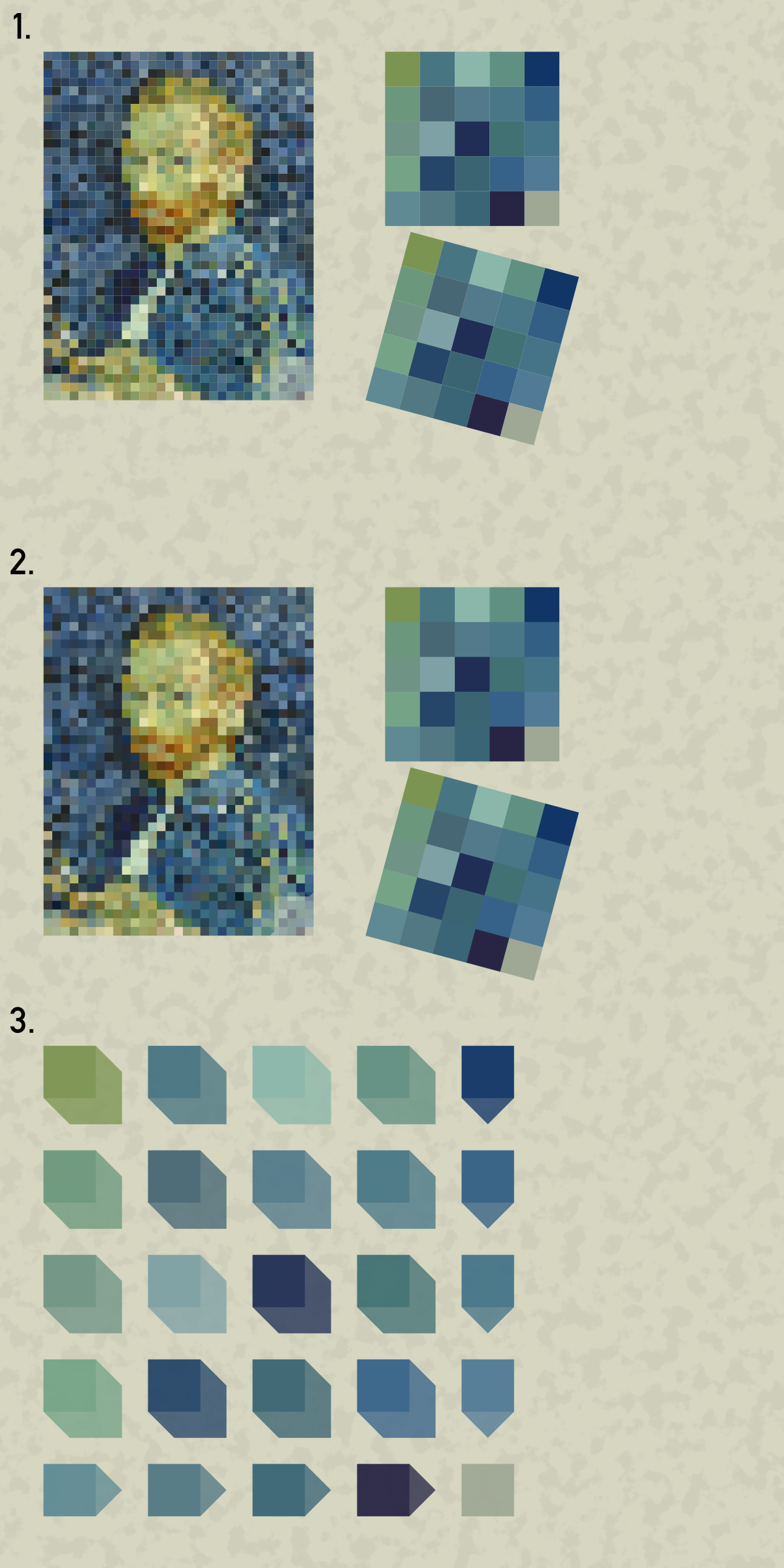 Vincent van Gogh self portrait pixel art by Lazur URH