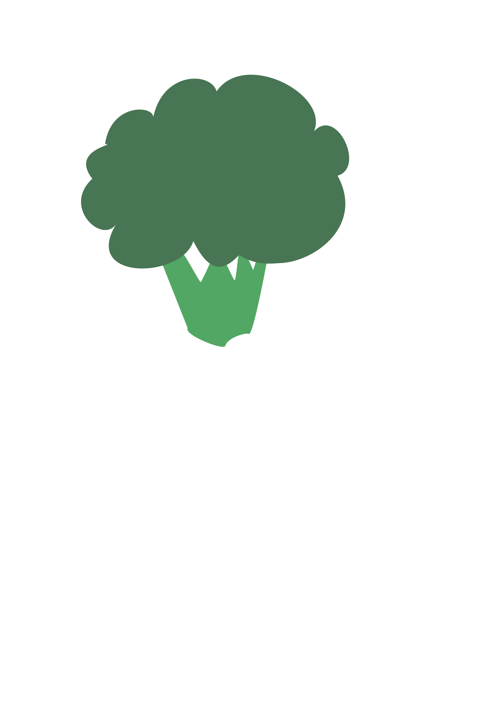 Broccoli - no lineart by basicavisual