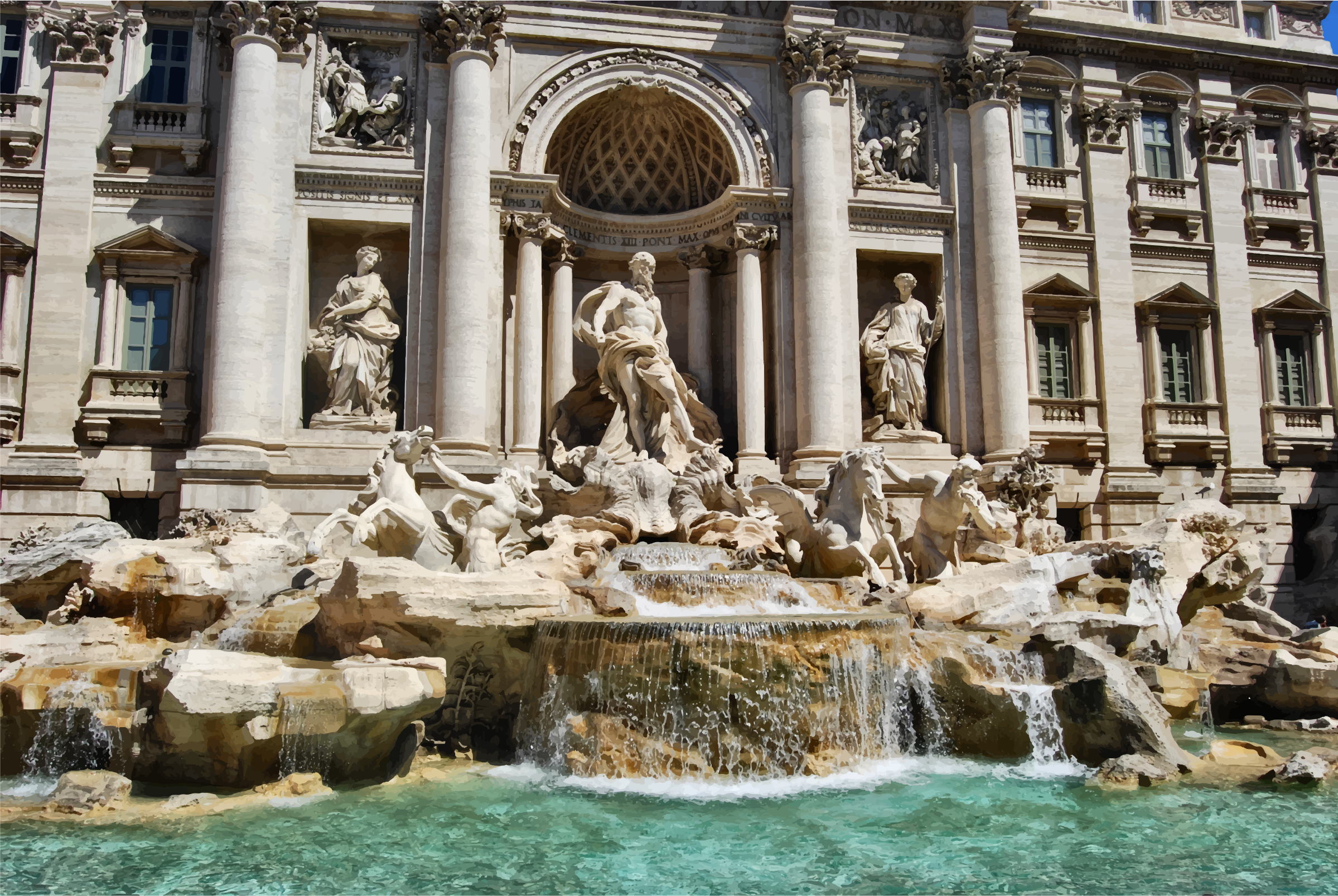 Trevi Fountain by GDJ