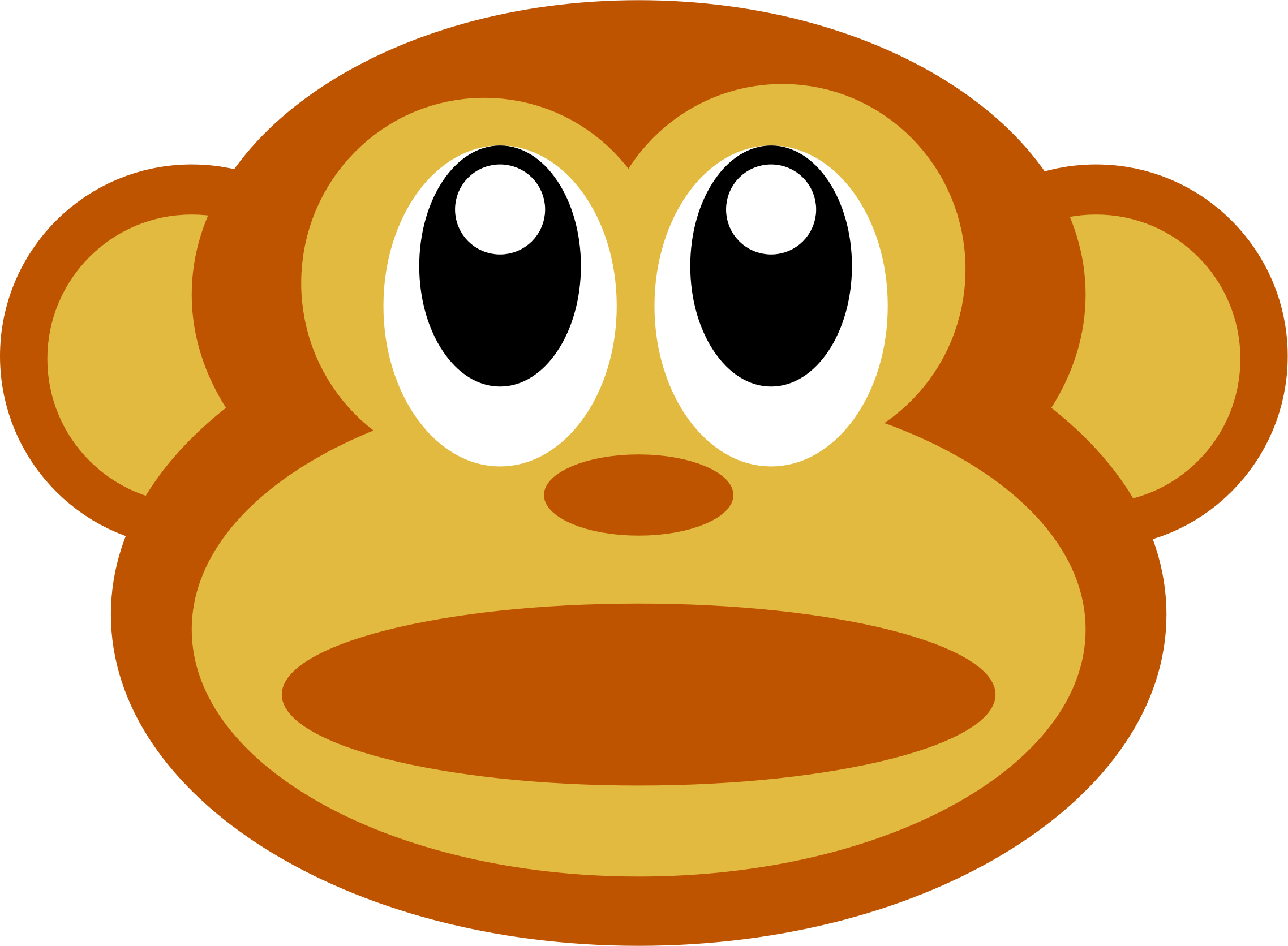 Clipart - monkey face :)