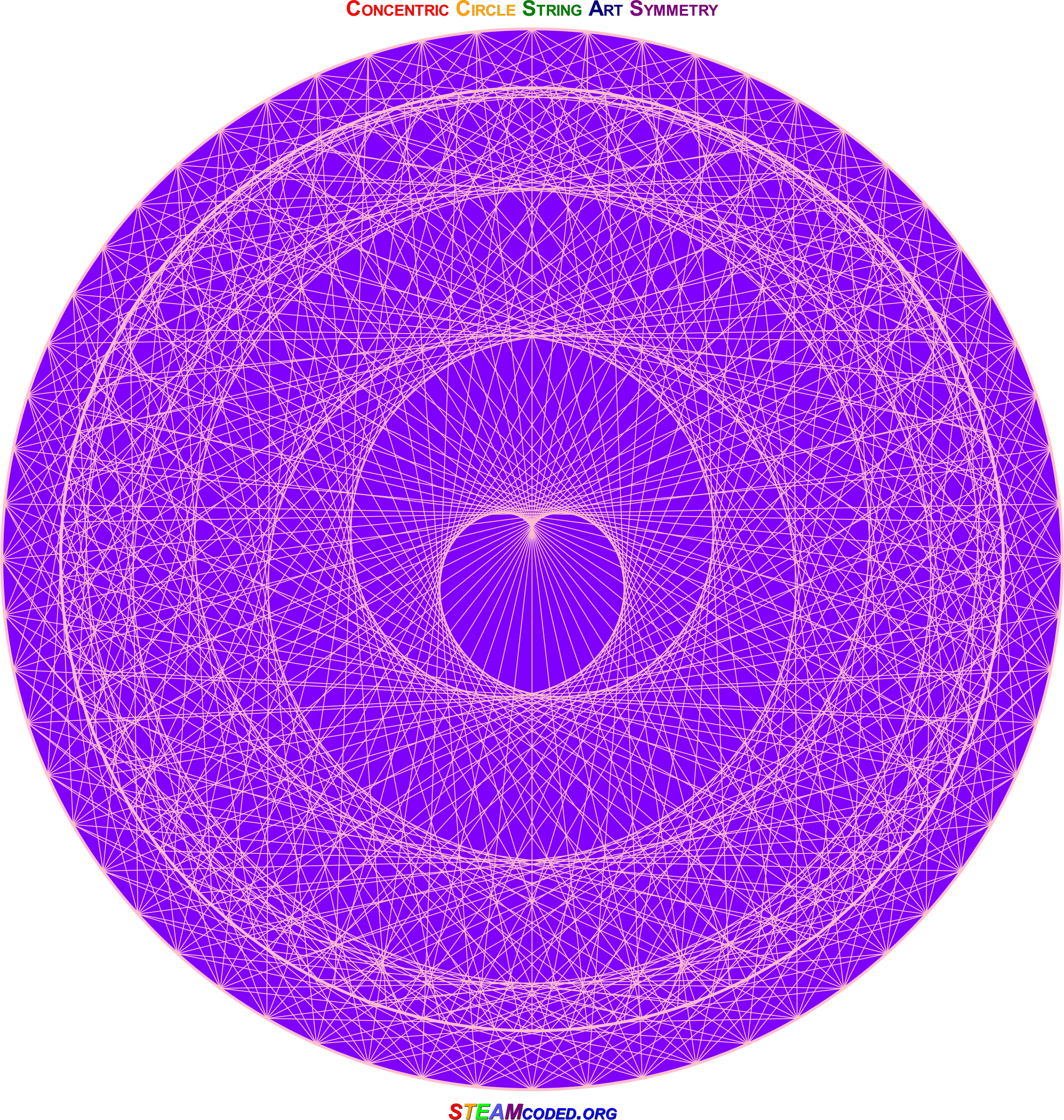 Concentric Circle Symmetry 4 by JayNick