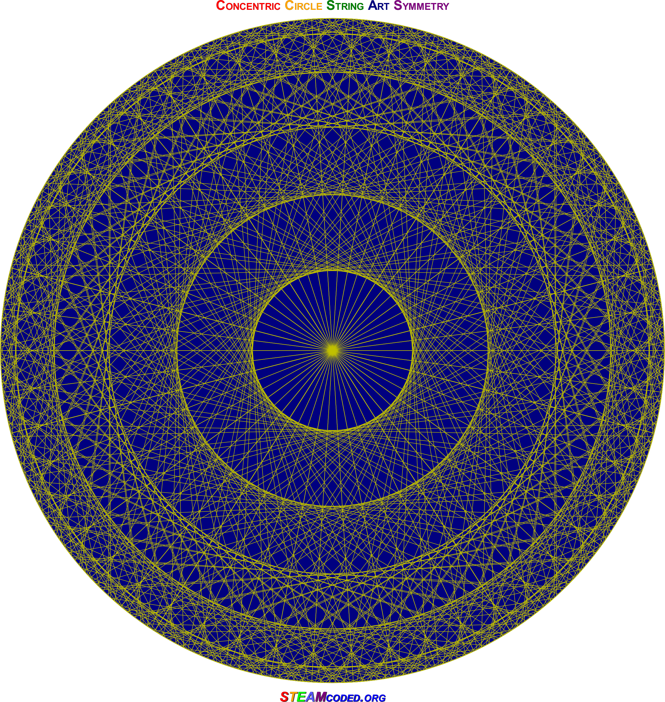 Concentric Circle Symmetry 5 by JayNick