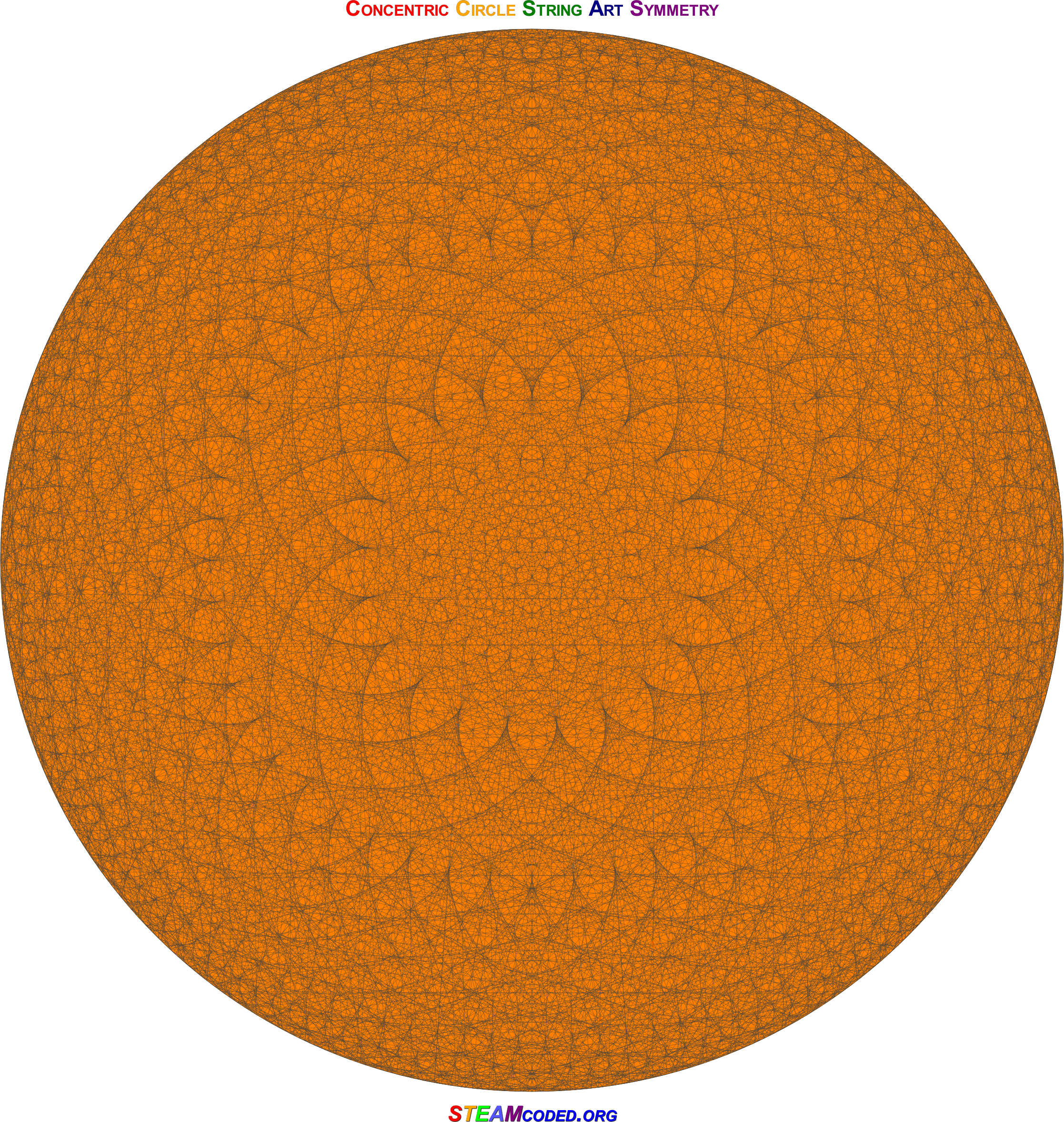 Concentric Circle Symmetry 6 by JayNick