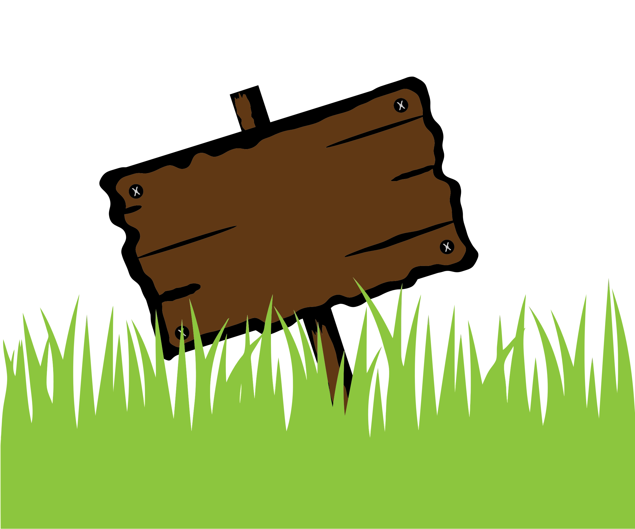 Wooden Sign In Grass by GDJ