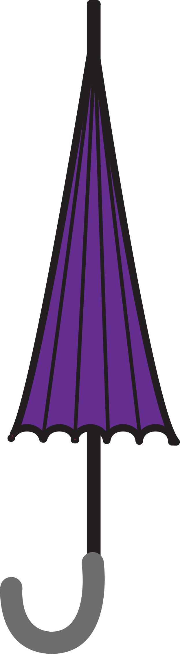 Clipart - Closed Umbrella