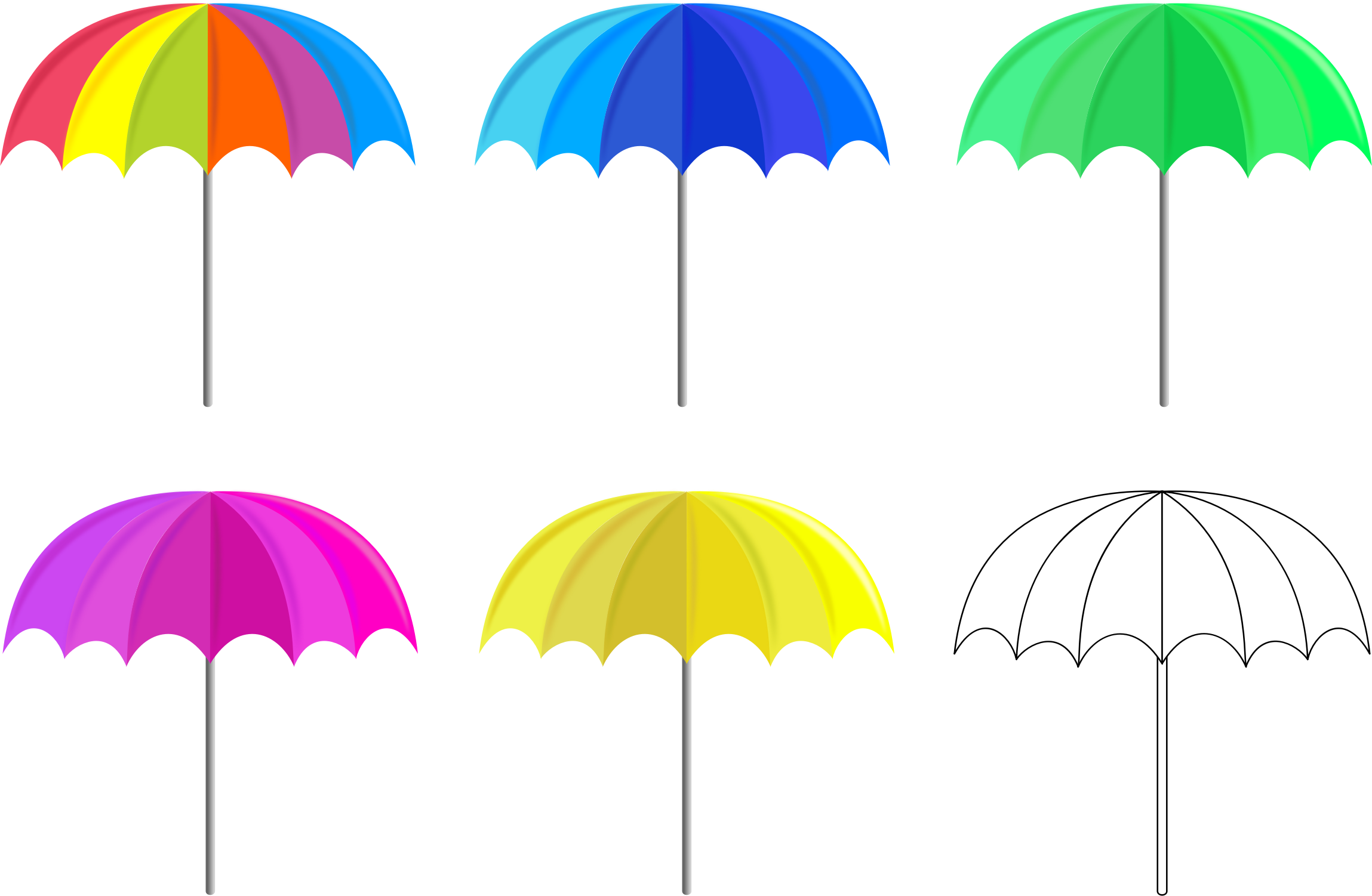 Multicolored Umbrellas by GDJ