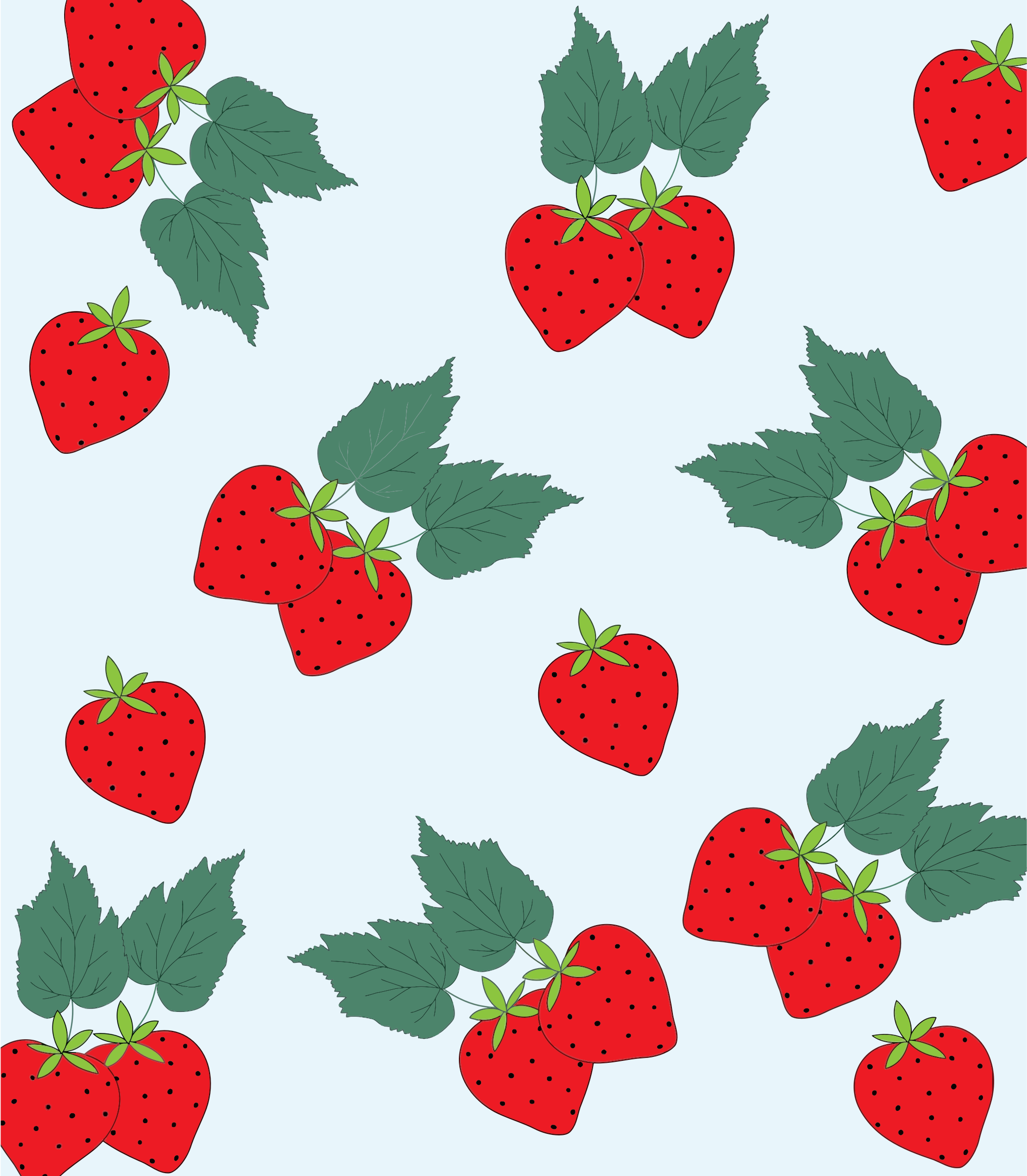 Strawberry Pattern Background by GDJ