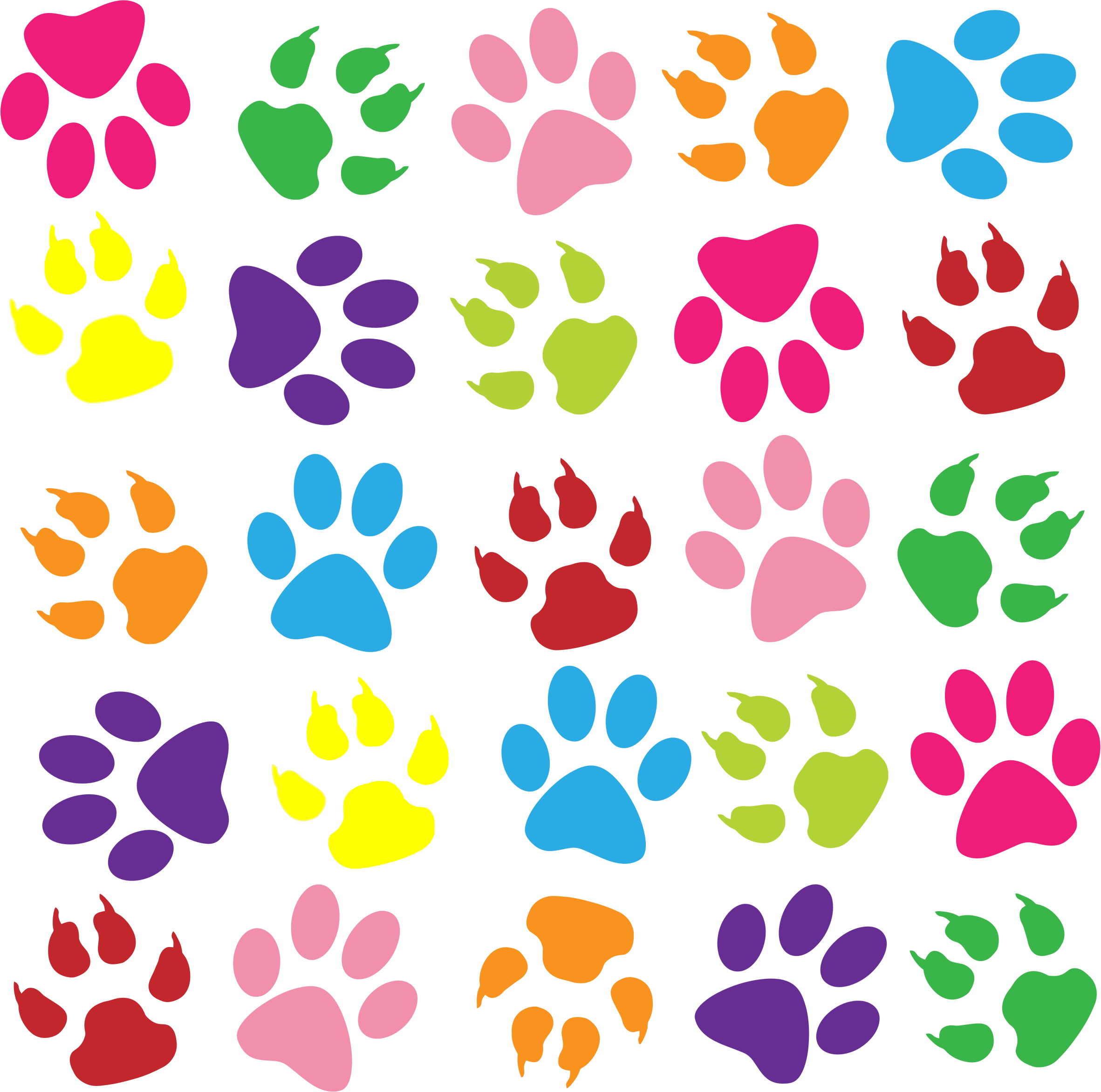 clipart colorful paw prints pattern background Barrel Racing Clip Art Sparkling Clean House Clip Art