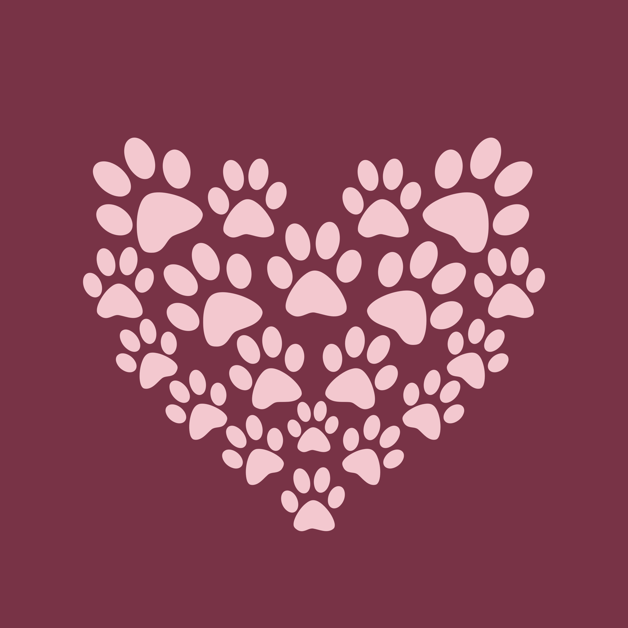 Paw Prints Heart by GDJ