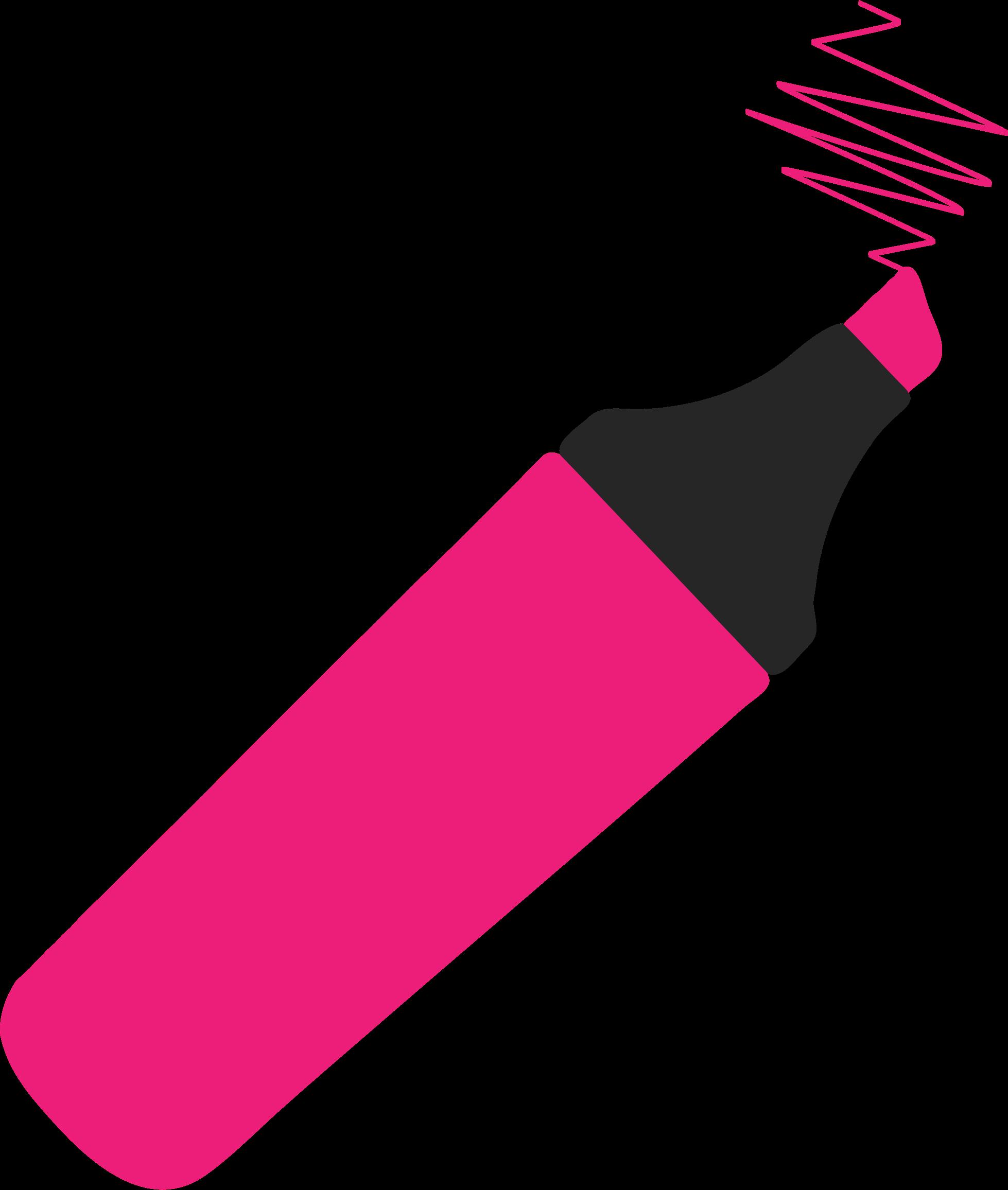 clipart - highlighter pen