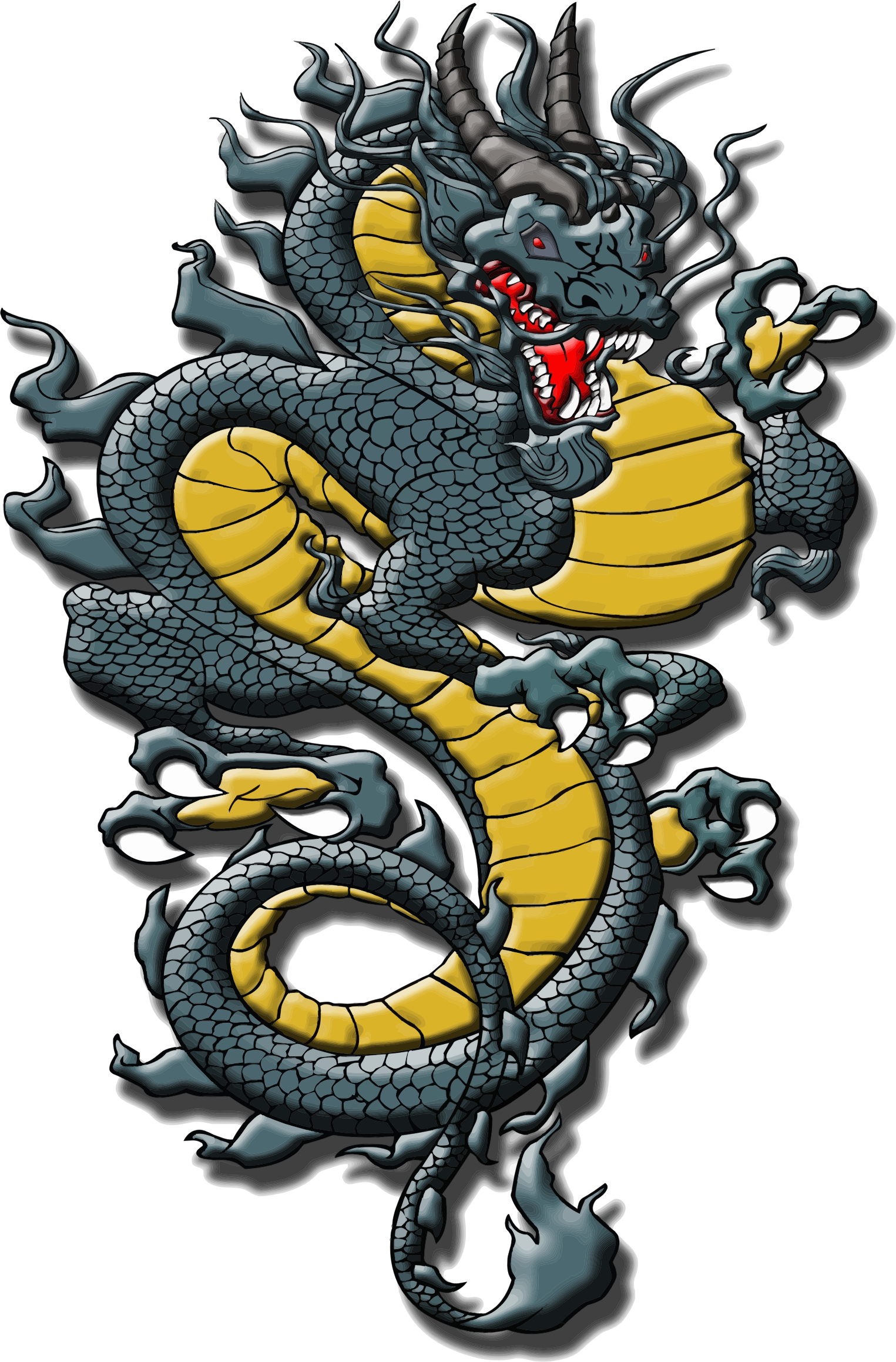 Asian Style Detailed Dragon by GDJ