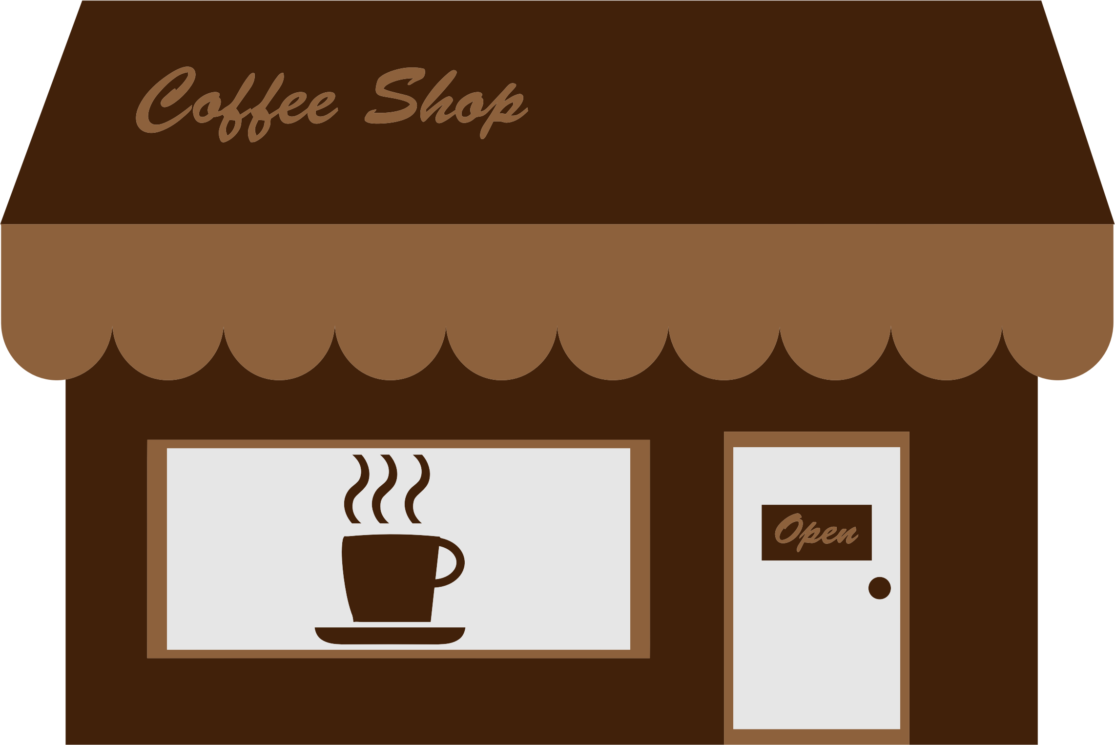Coffee Shop Storefront by GDJ