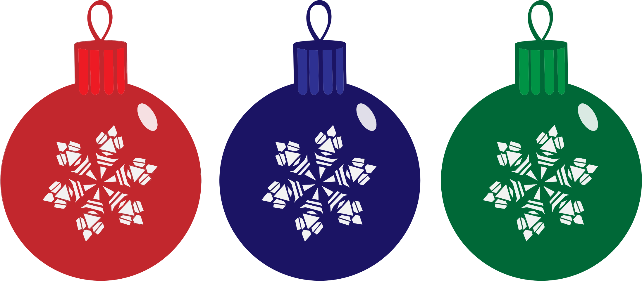 Clipart rgb christmas ornaments
