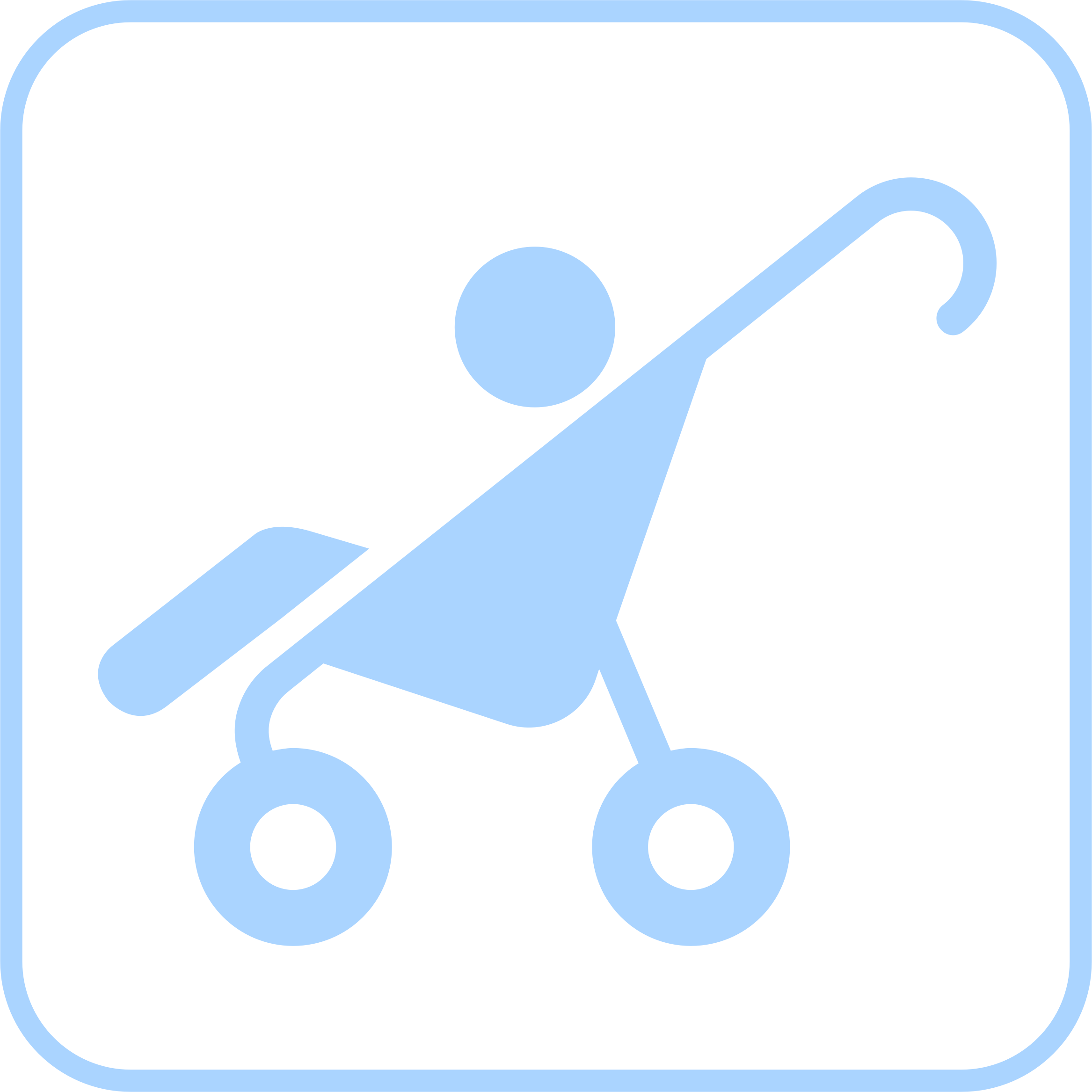 Baby Stroller Icon by GDJ