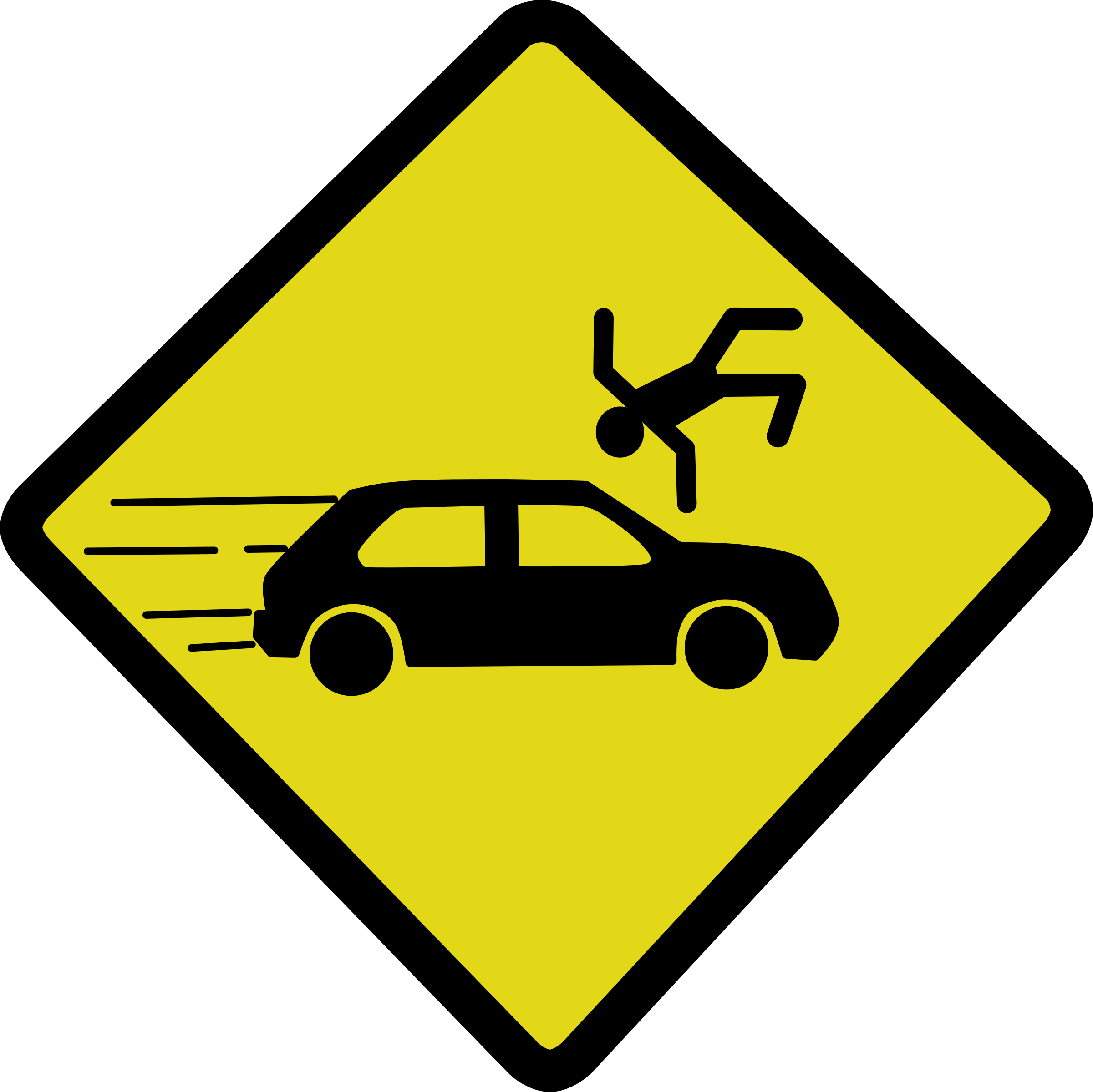 Clipart - Car accident sign