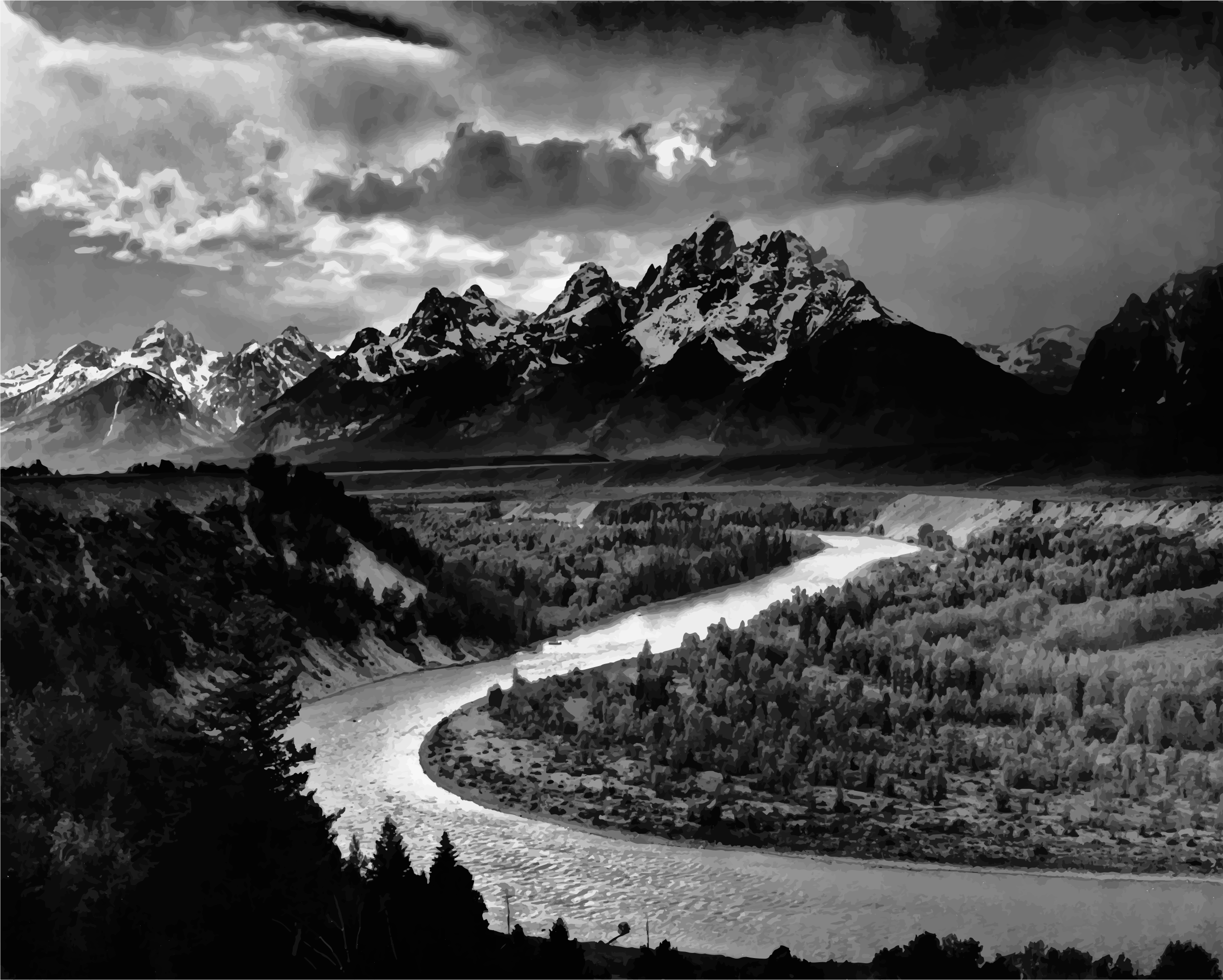 The Tetons and the Snake River (1942) by GDJ
