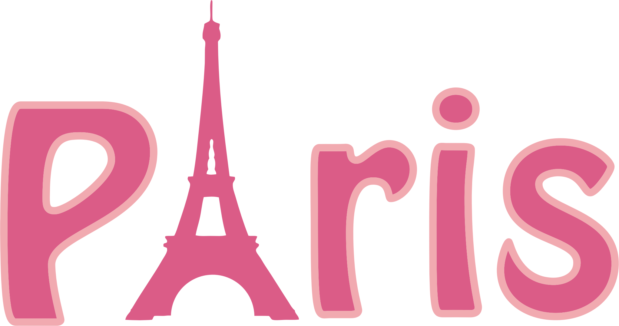Paris Typography by GDJ