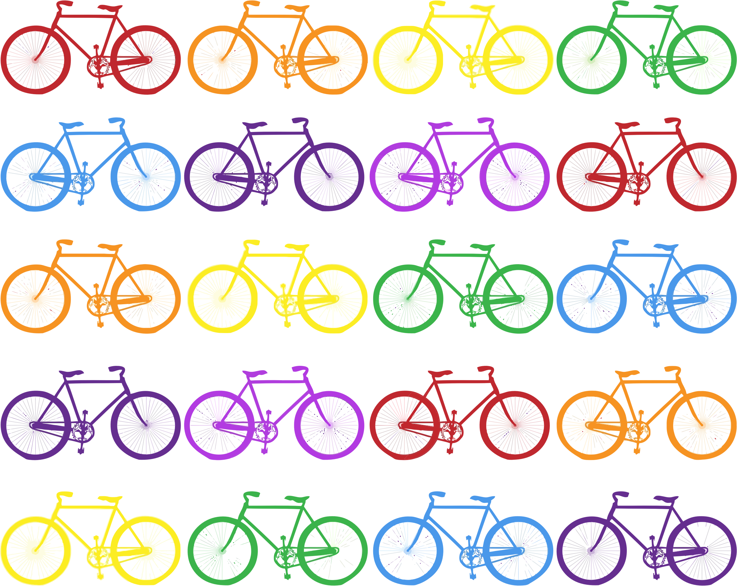 Colorful Bicycles Background by GDJ