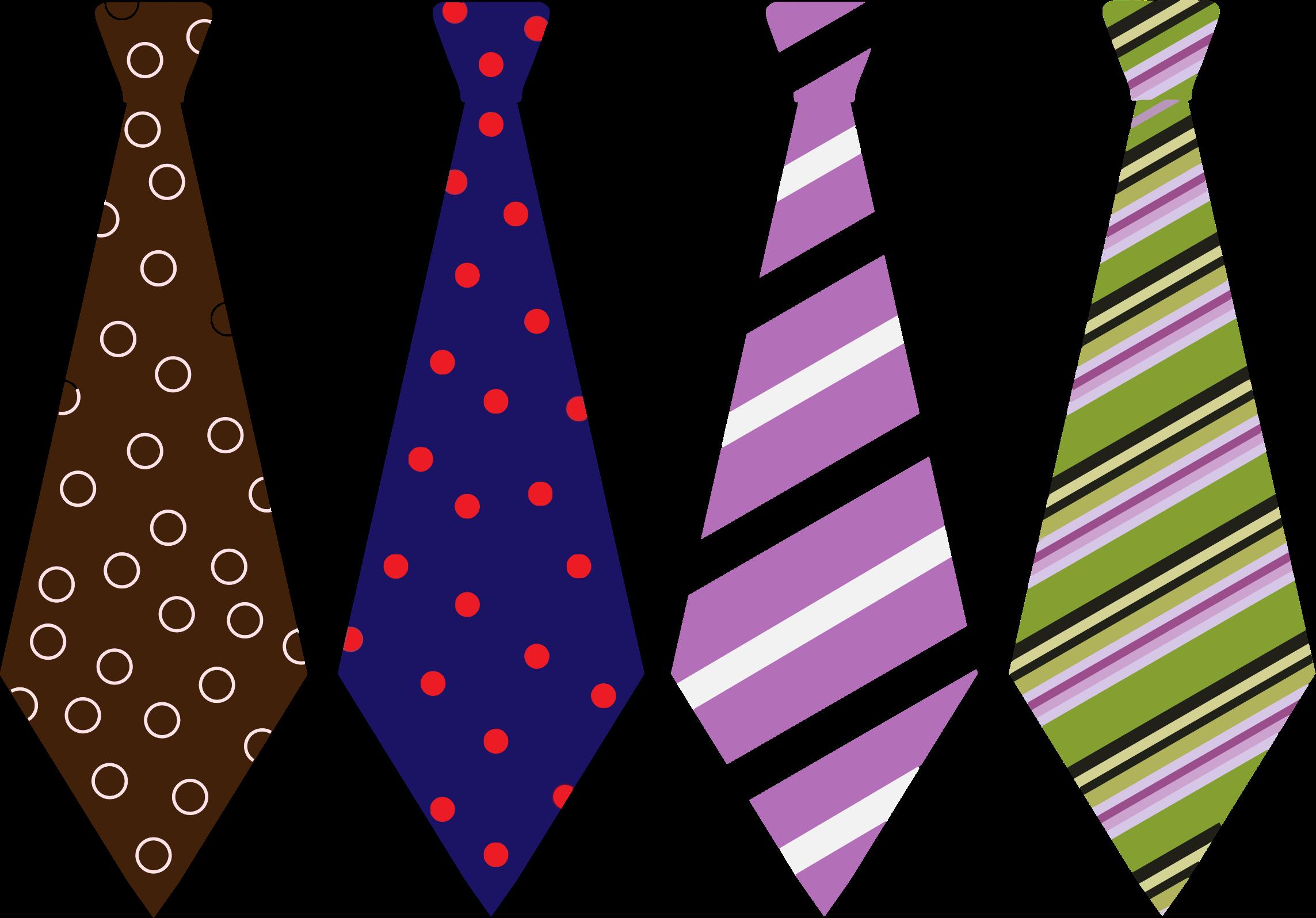 Clipart - Patterned Men's Ties