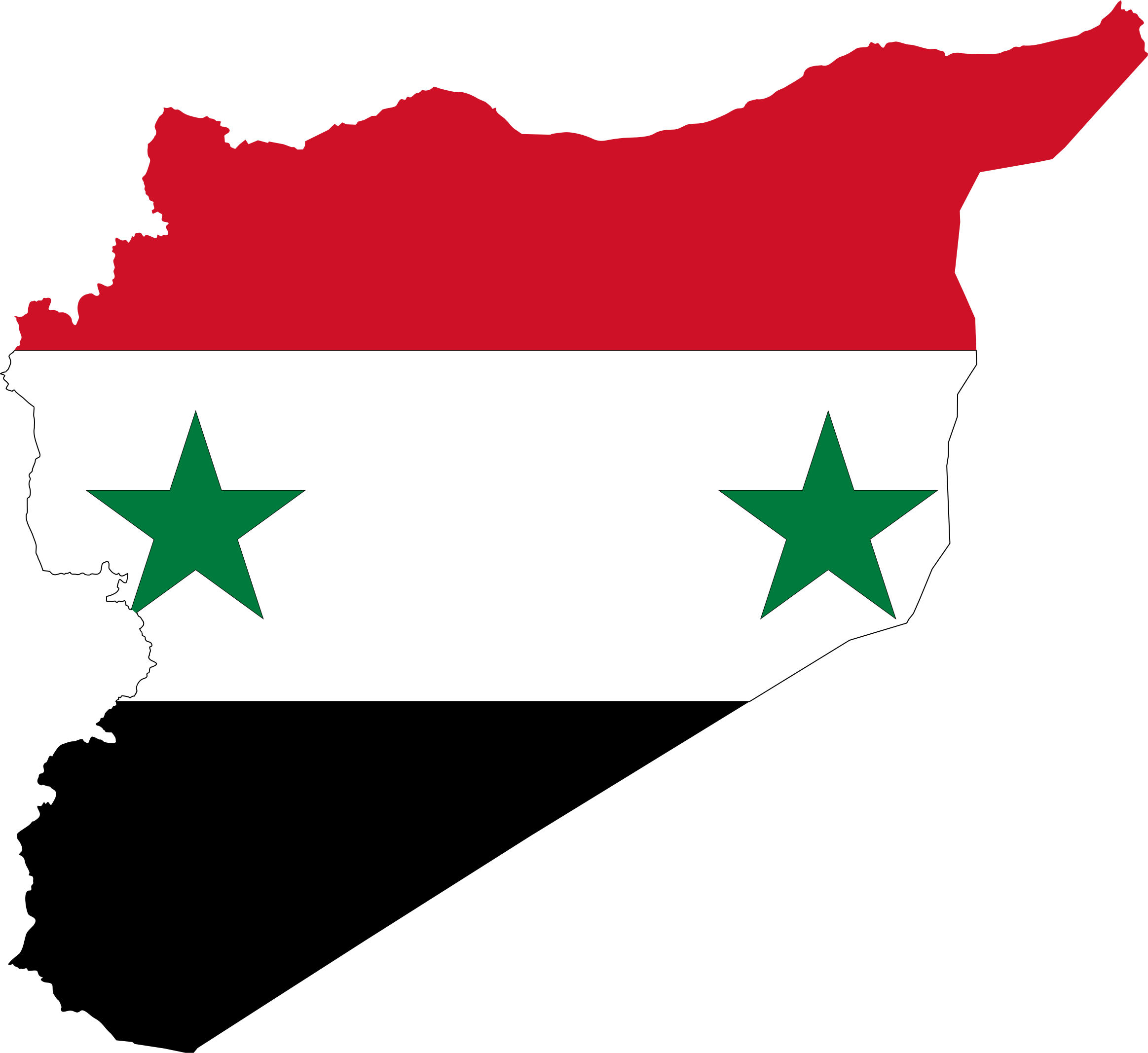 Syria Map Flag by GDJ