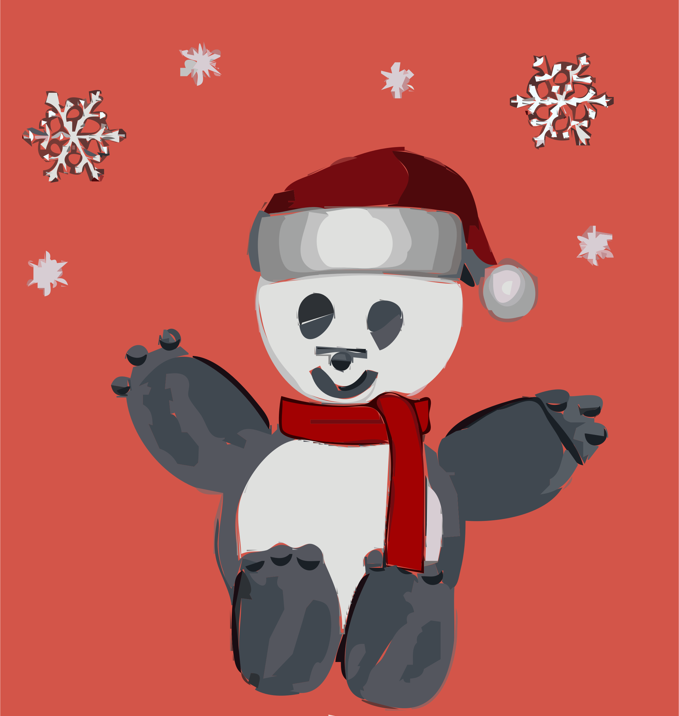 Panda Christmas by Cheatherly