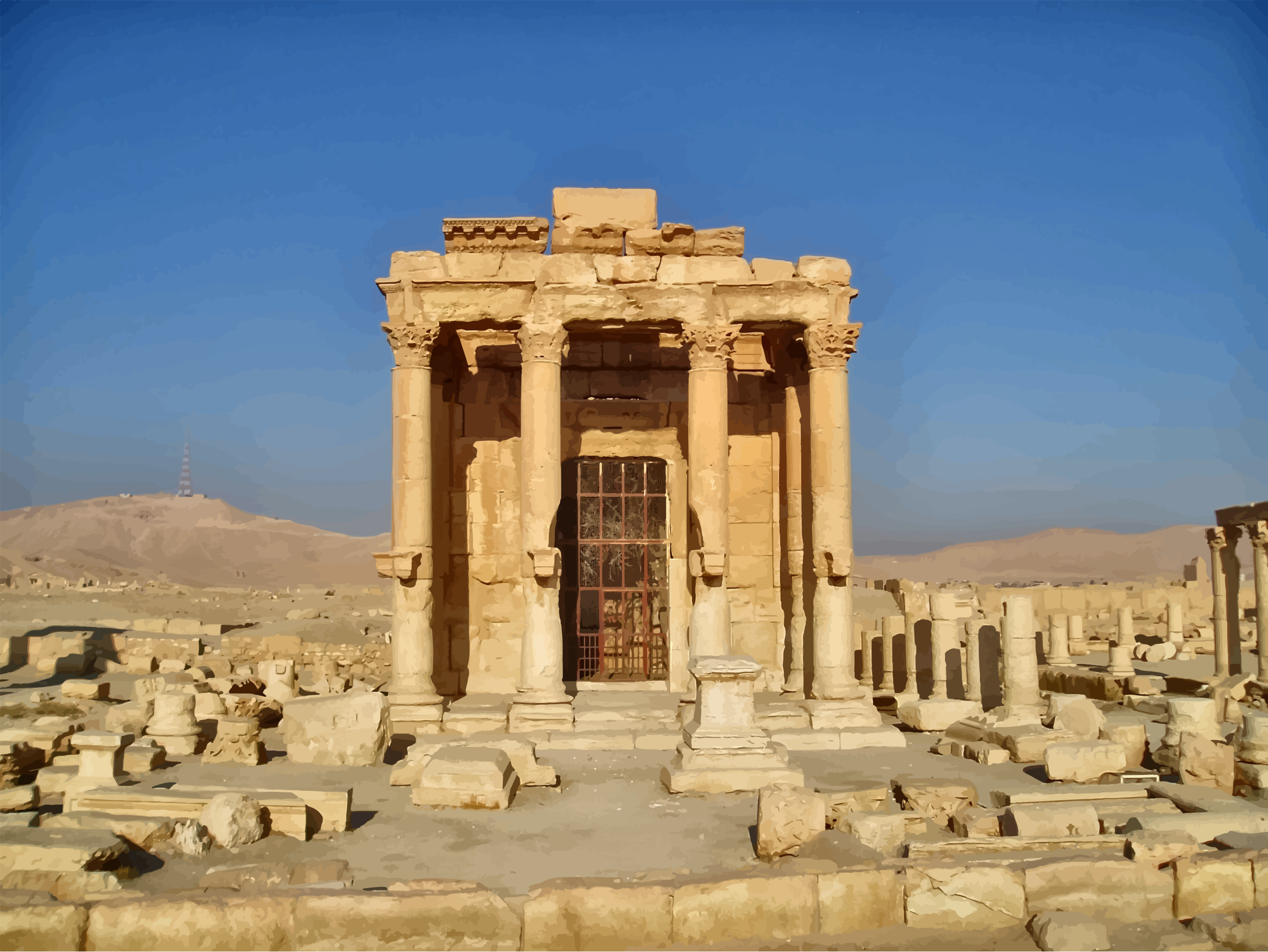 Temple Of Baalshamin Palmyra by GDJ