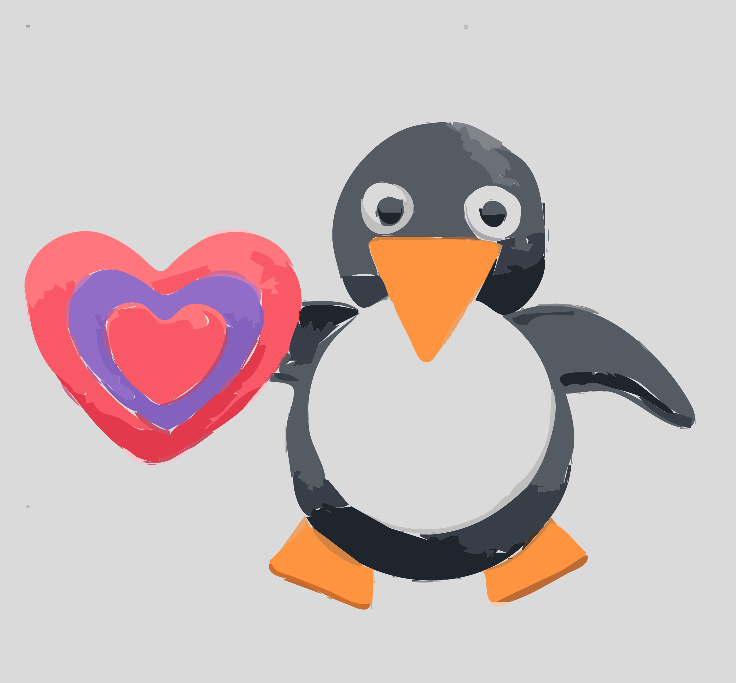 Be Mine Penguin by Cheatherly