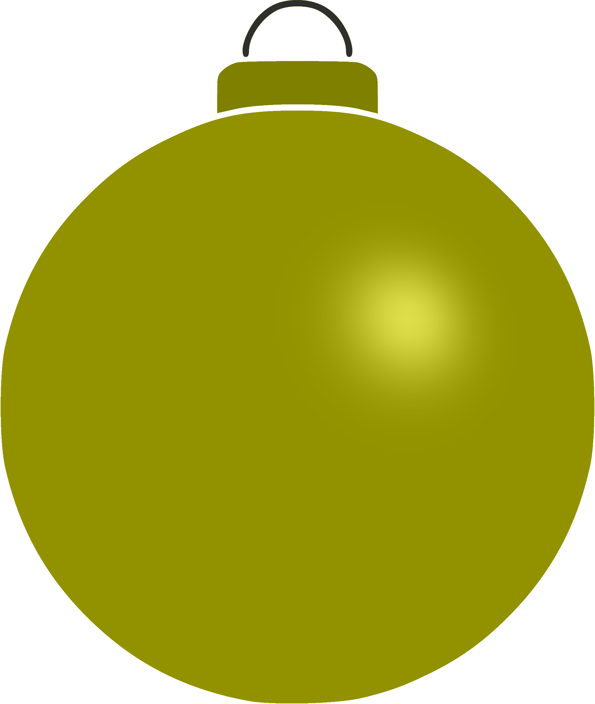 Plain bauble 12 by Firkin