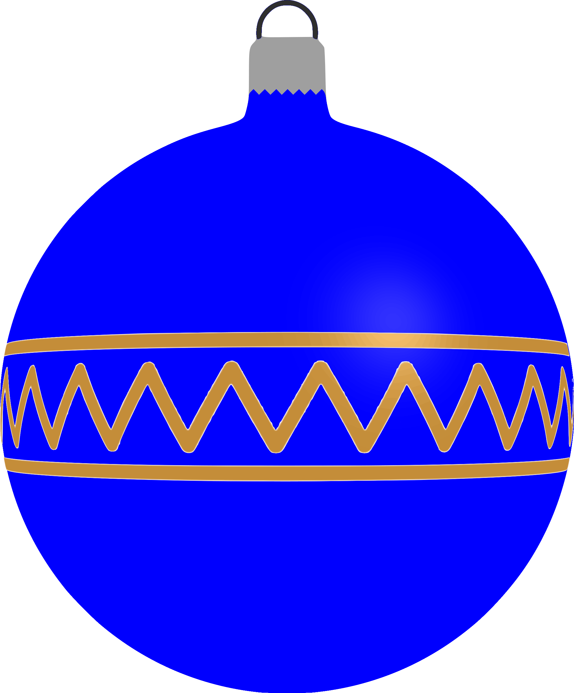 Patterned bauble 1 (blue) by Firkin