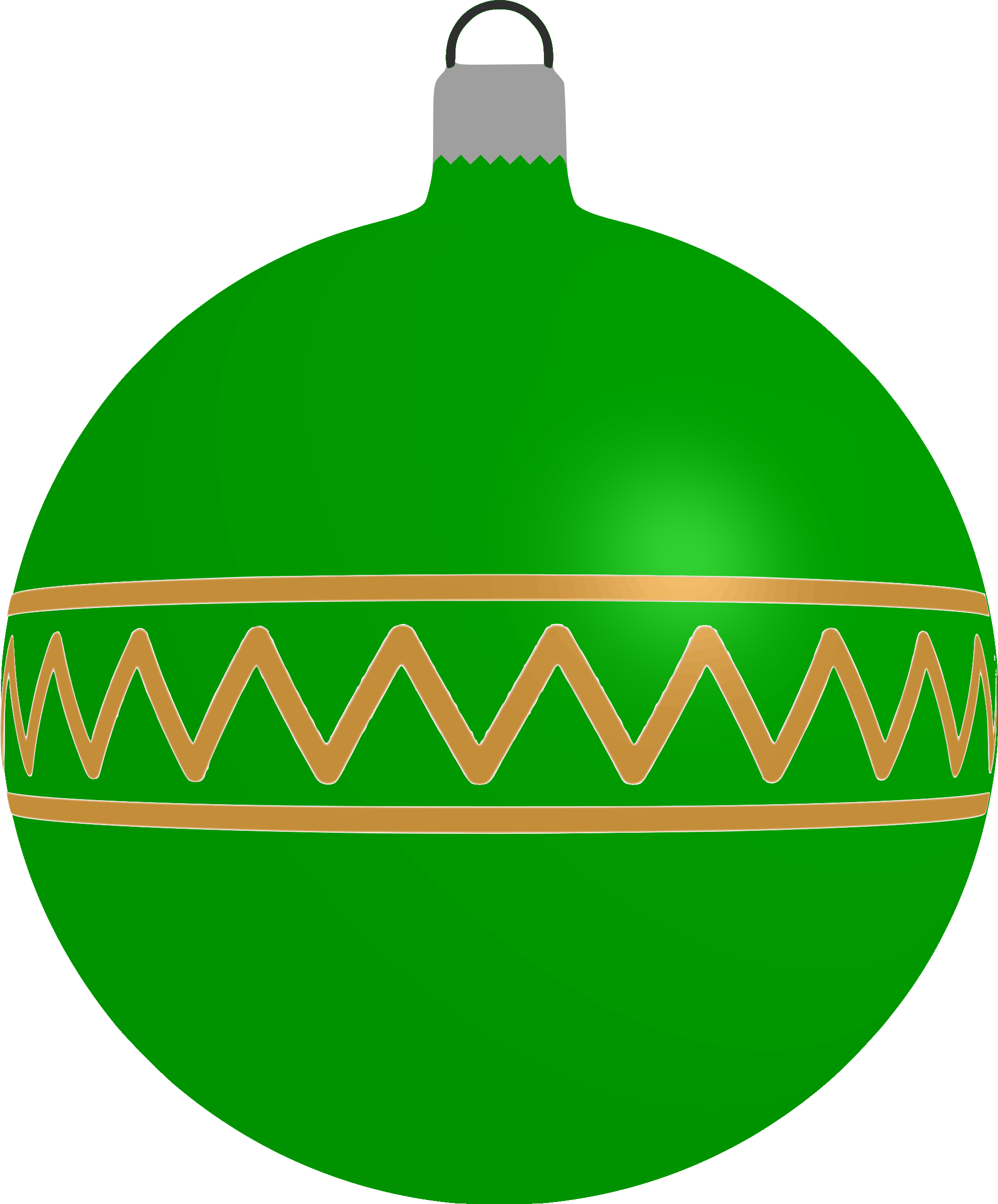 Patterned bauble 1 (green) by Firkin
