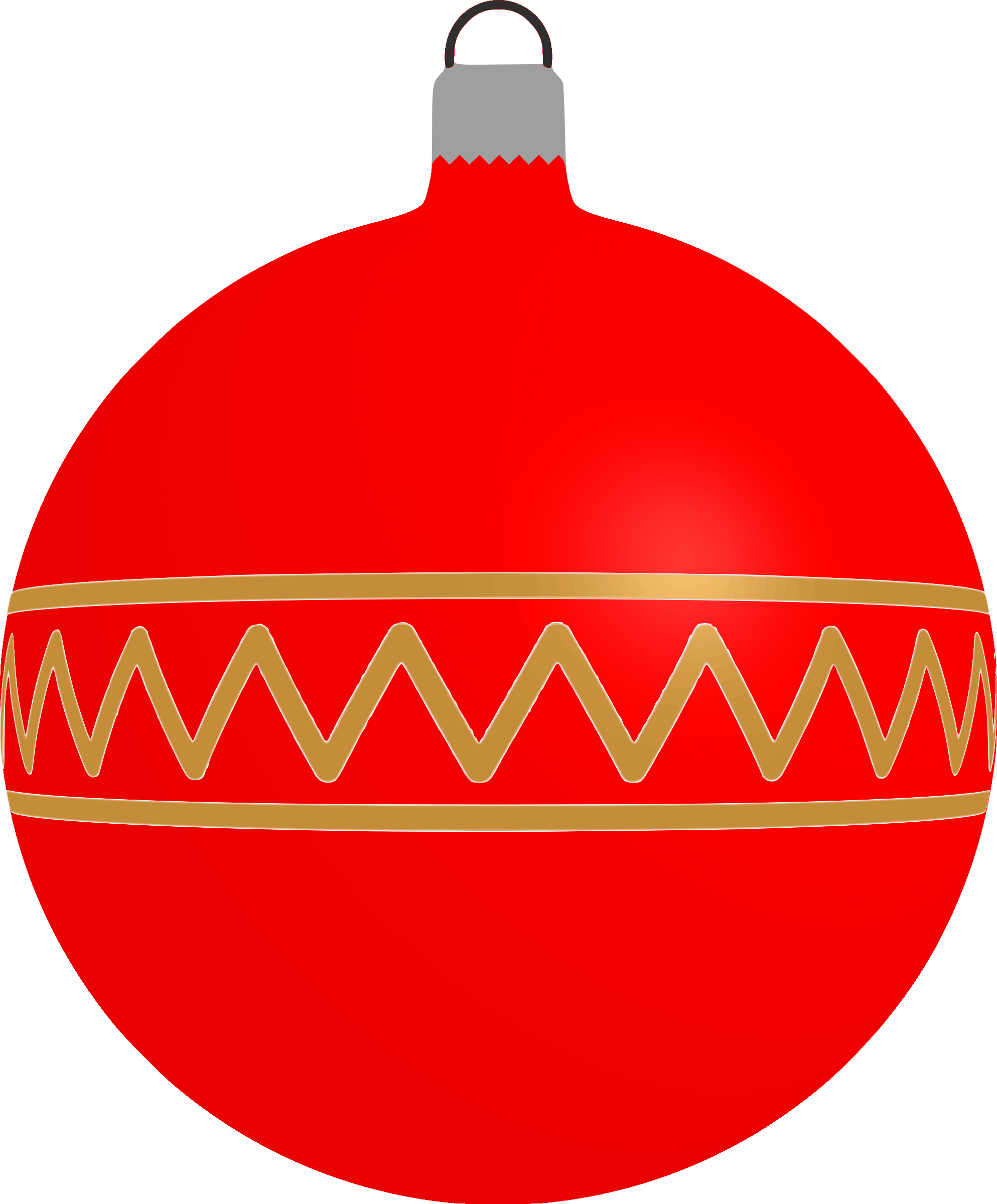 Patterned bauble 1 (red) by Firkin