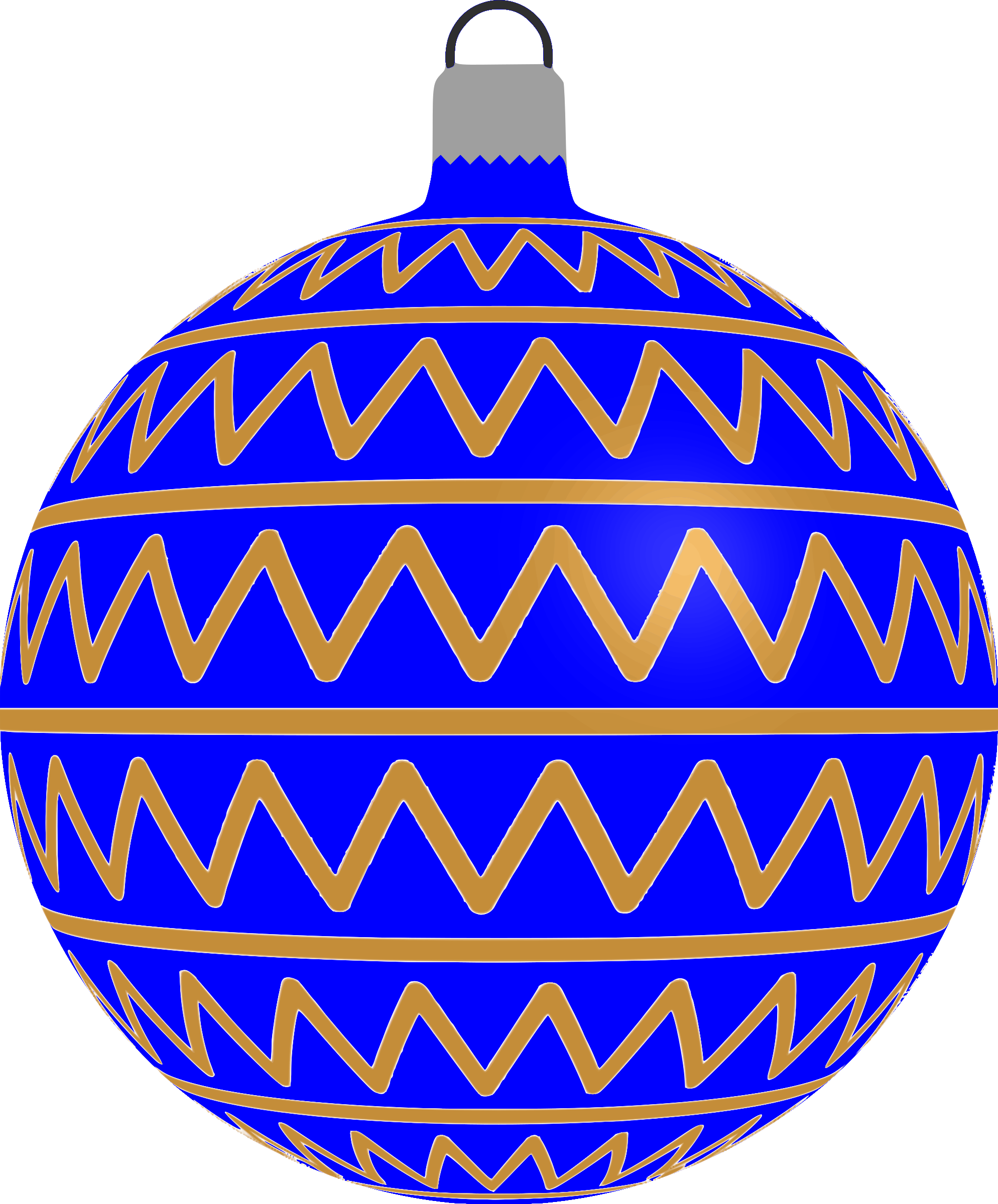 Patterned bauble 2 (blue) by Firkin