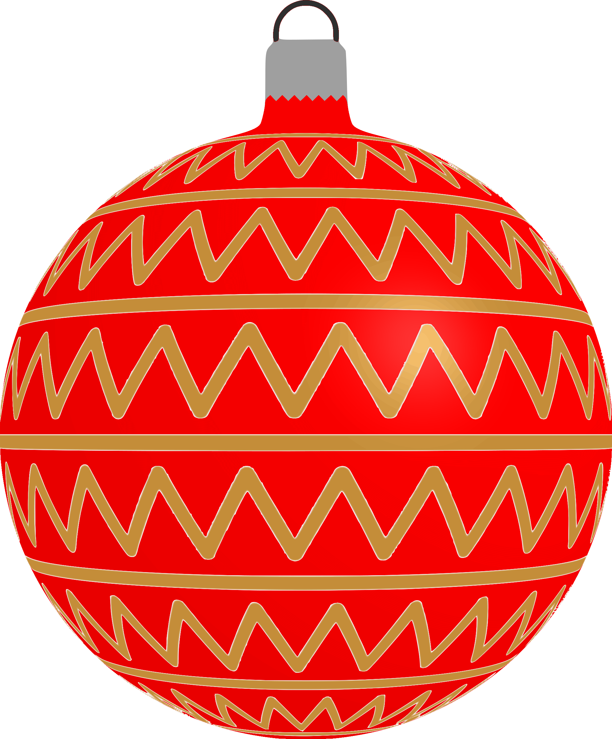 Patterned bauble 2 (red) by Firkin