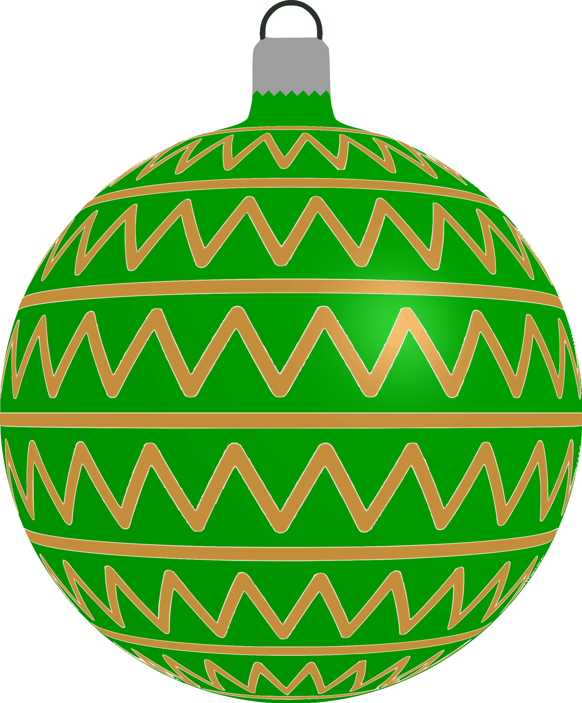 Patterned bauble 2 (green) by Firkin