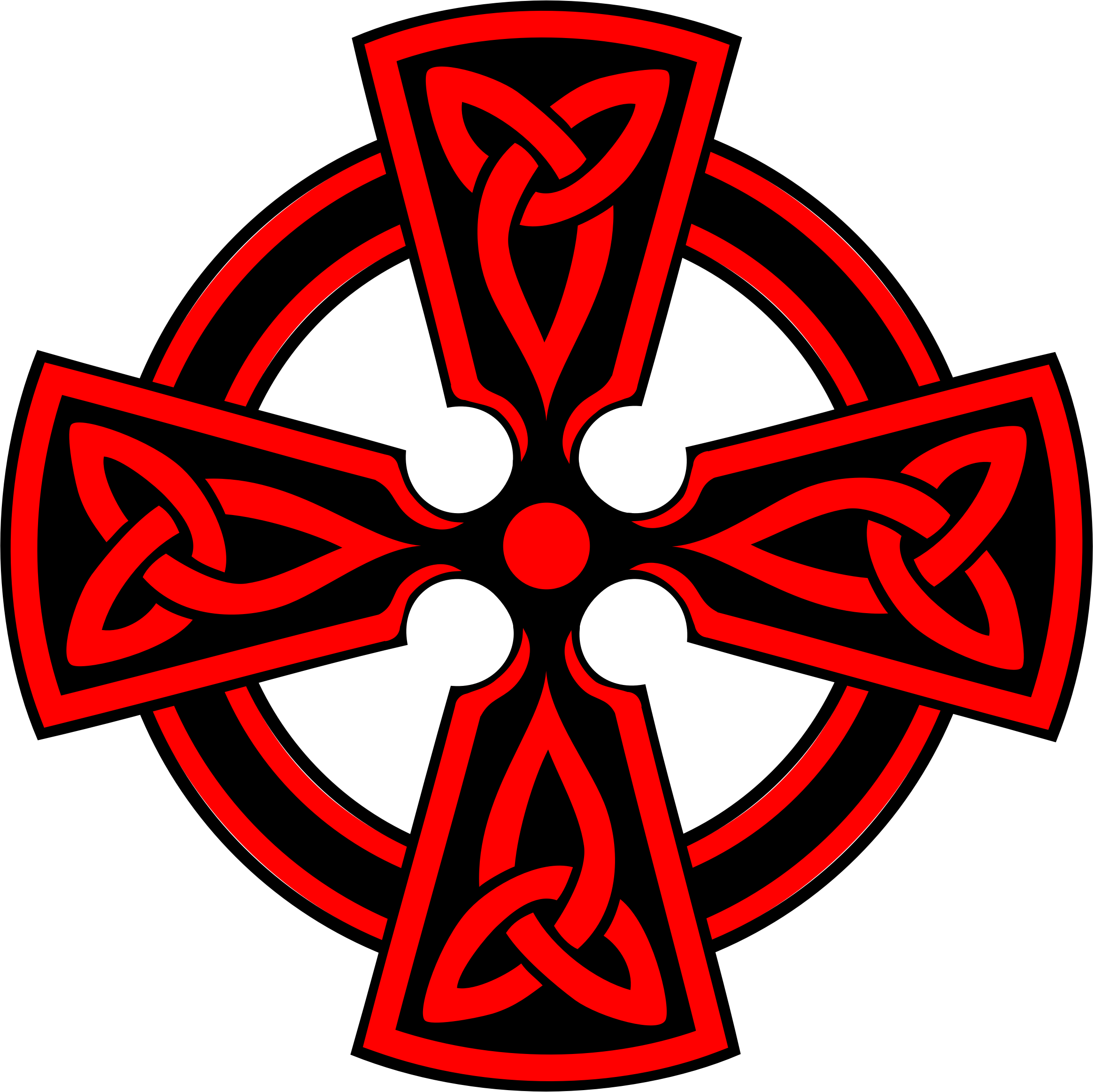 Celtic Cross DecorativeTriquetras Red by GDJ