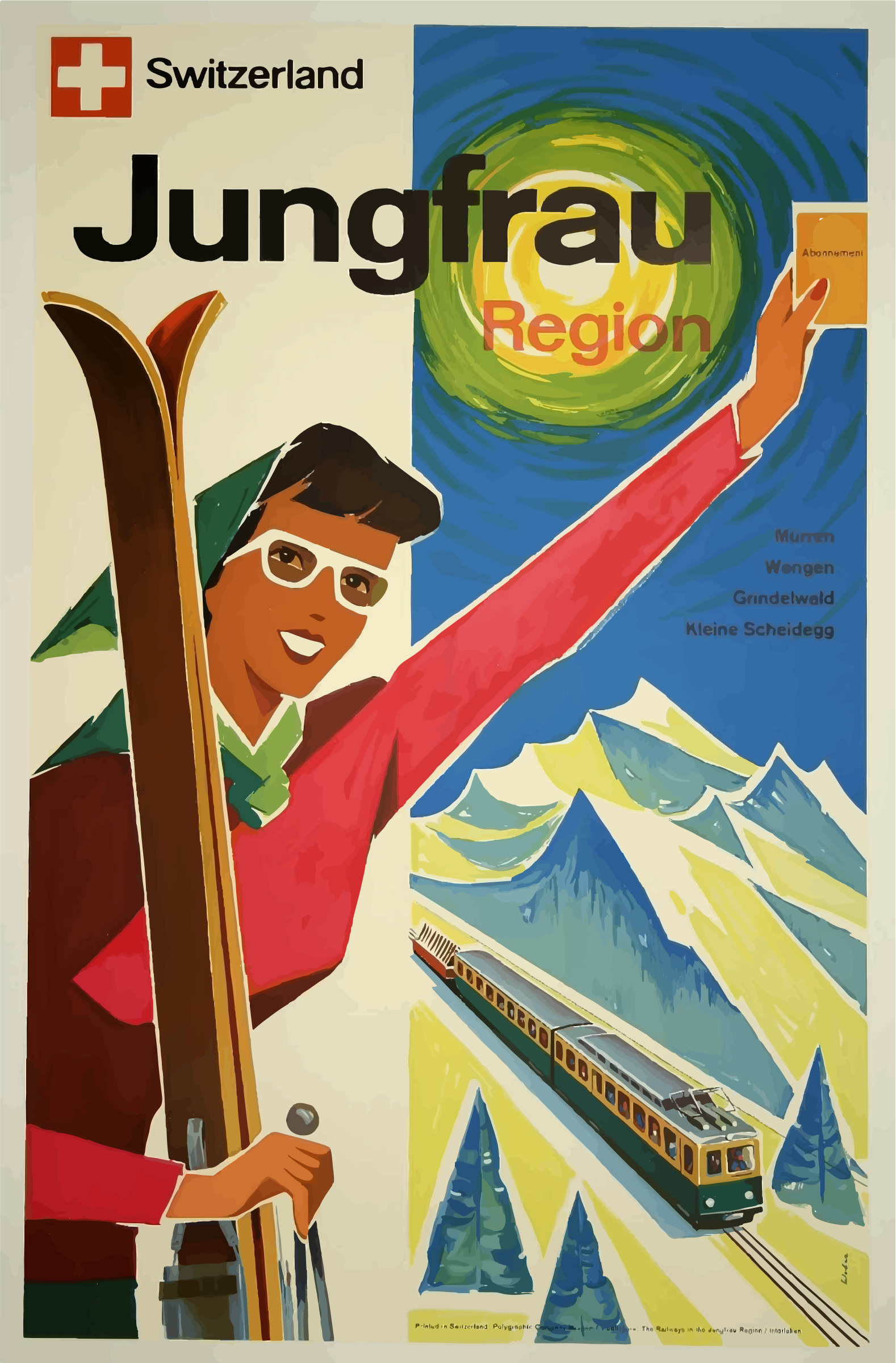 Vintage Travel Poster Switzerland 4 by GDJ