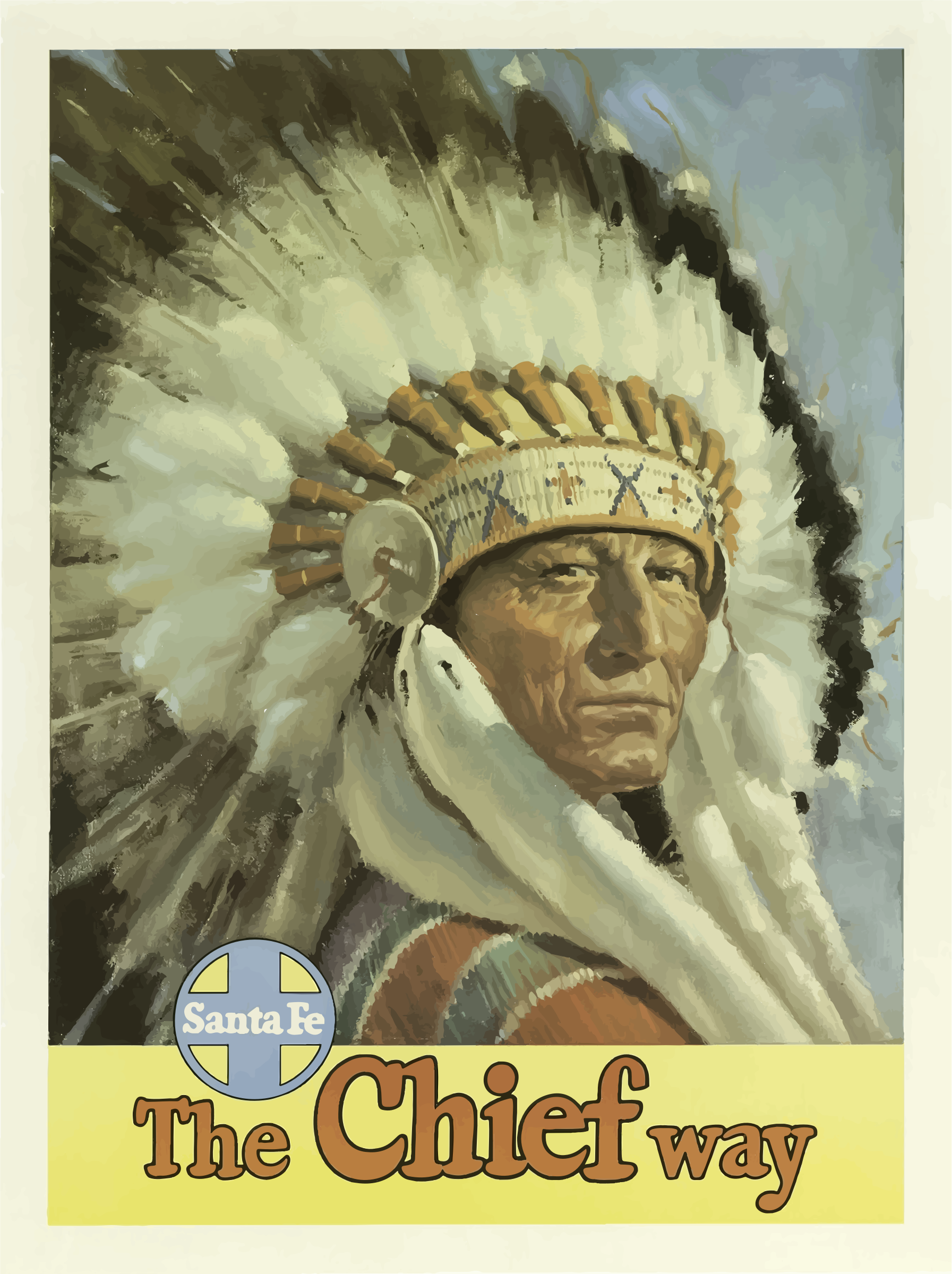Vintage Travel Poster Santa Fe New Mexico USA by GDJ