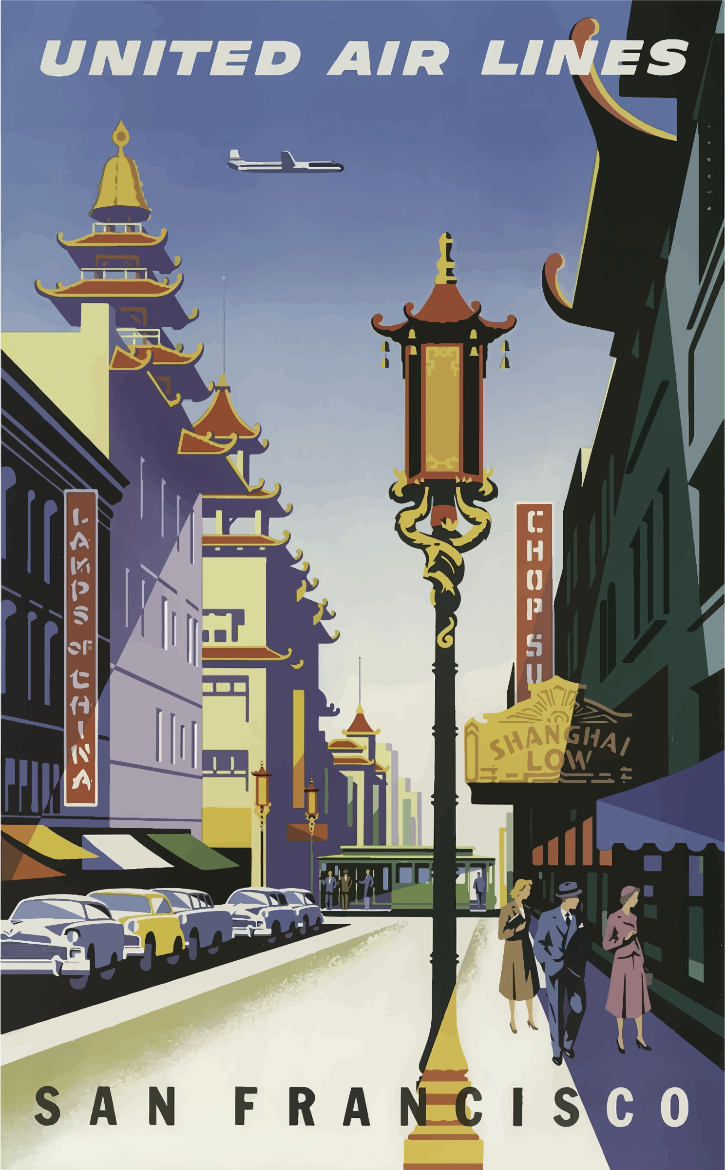 Vintage Travel Poster San Francisco 5 by GDJ