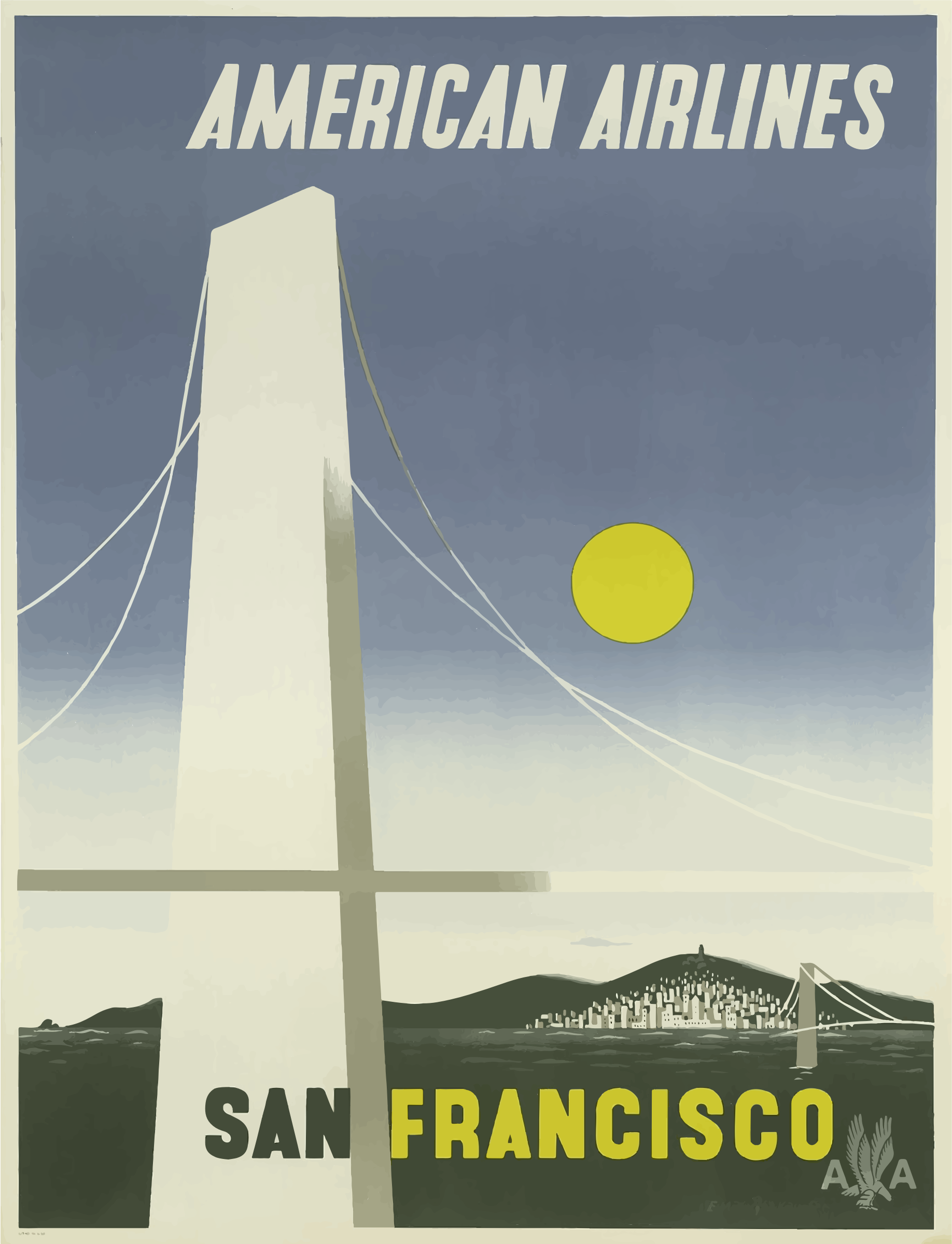 Vintage Travel Poster San Francisco 6 by GDJ
