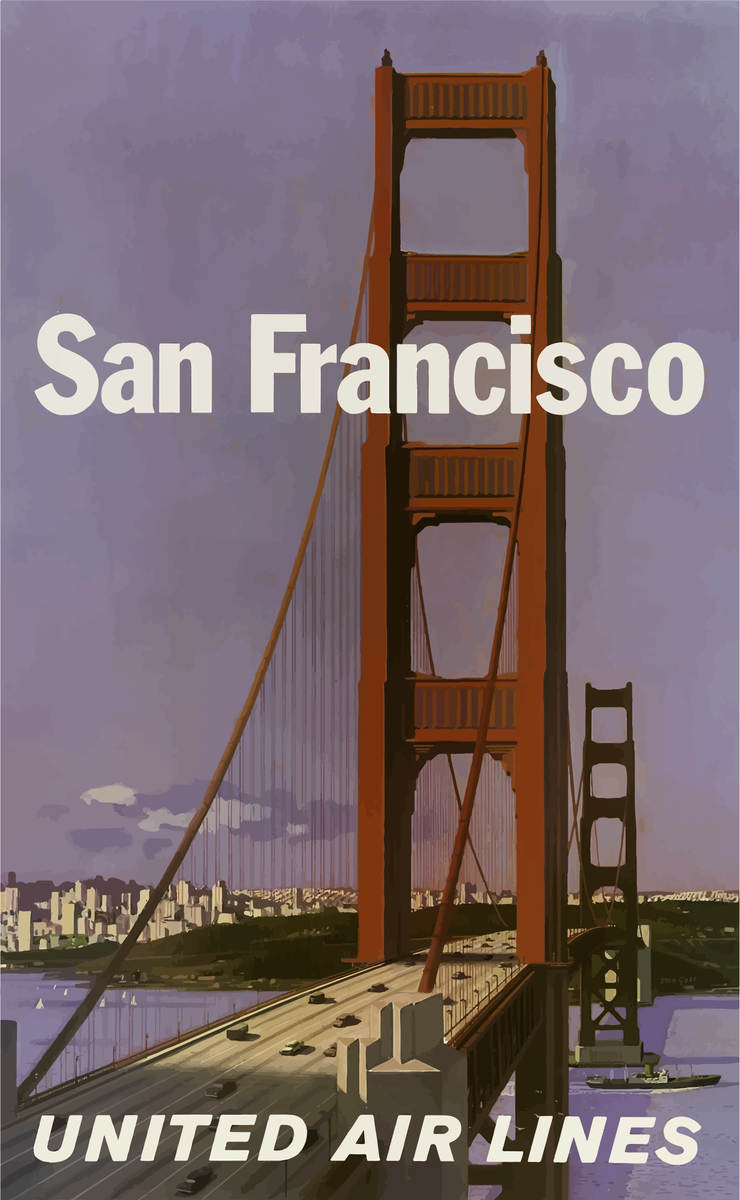 Vintage Travel Poster San Francisco 7 by GDJ