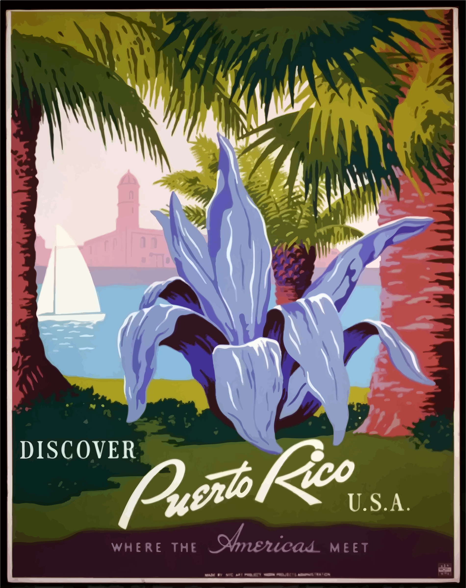 Vintage Travel Poster Puerto Rico 2 by GDJ