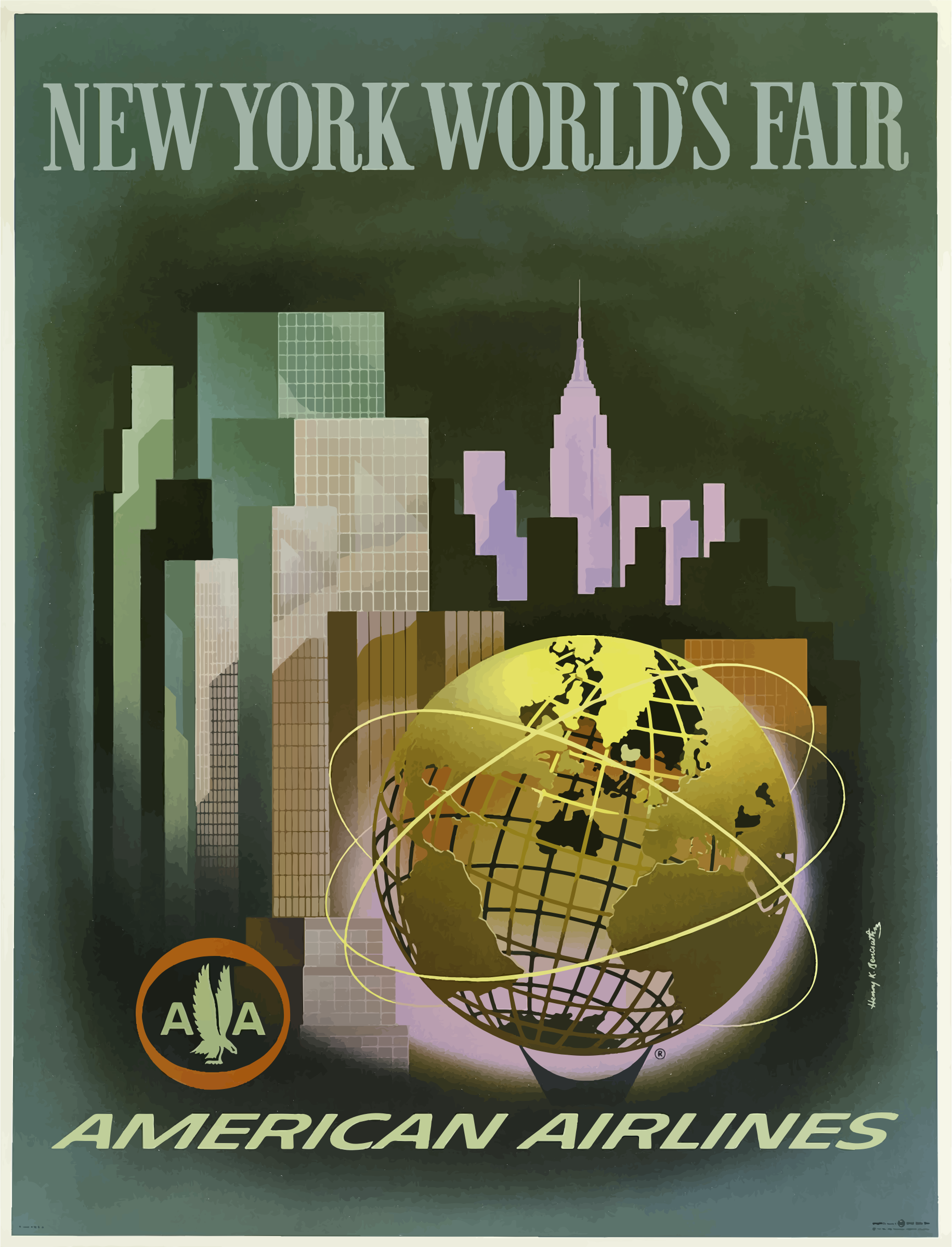 Vintage Travel Poster New Yorks World Fair by GDJ